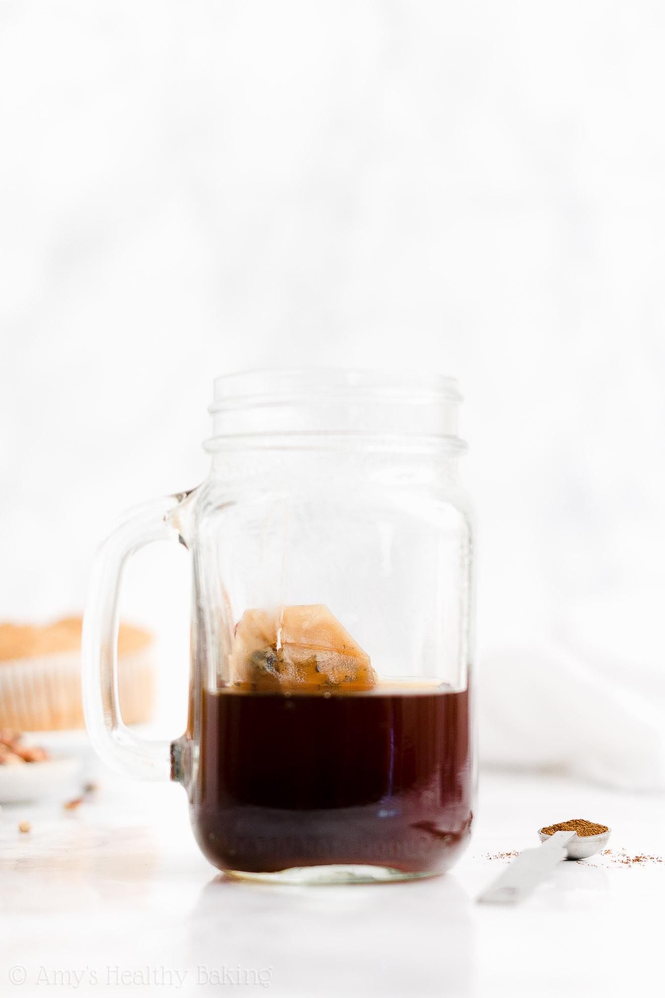 BEST EVER Easy Healthy Homemade Vegan Almond Milk Eggnog Chai Latte