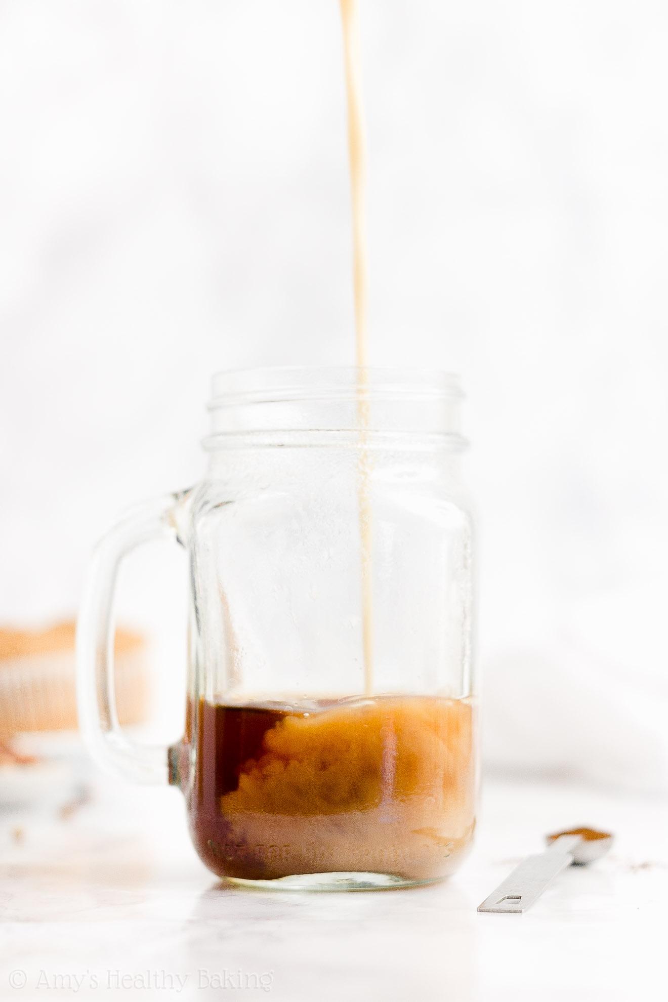 BEST EVER Easy Healthy Gluten Free Vegan Dairy Free Eggnog Chai Latte