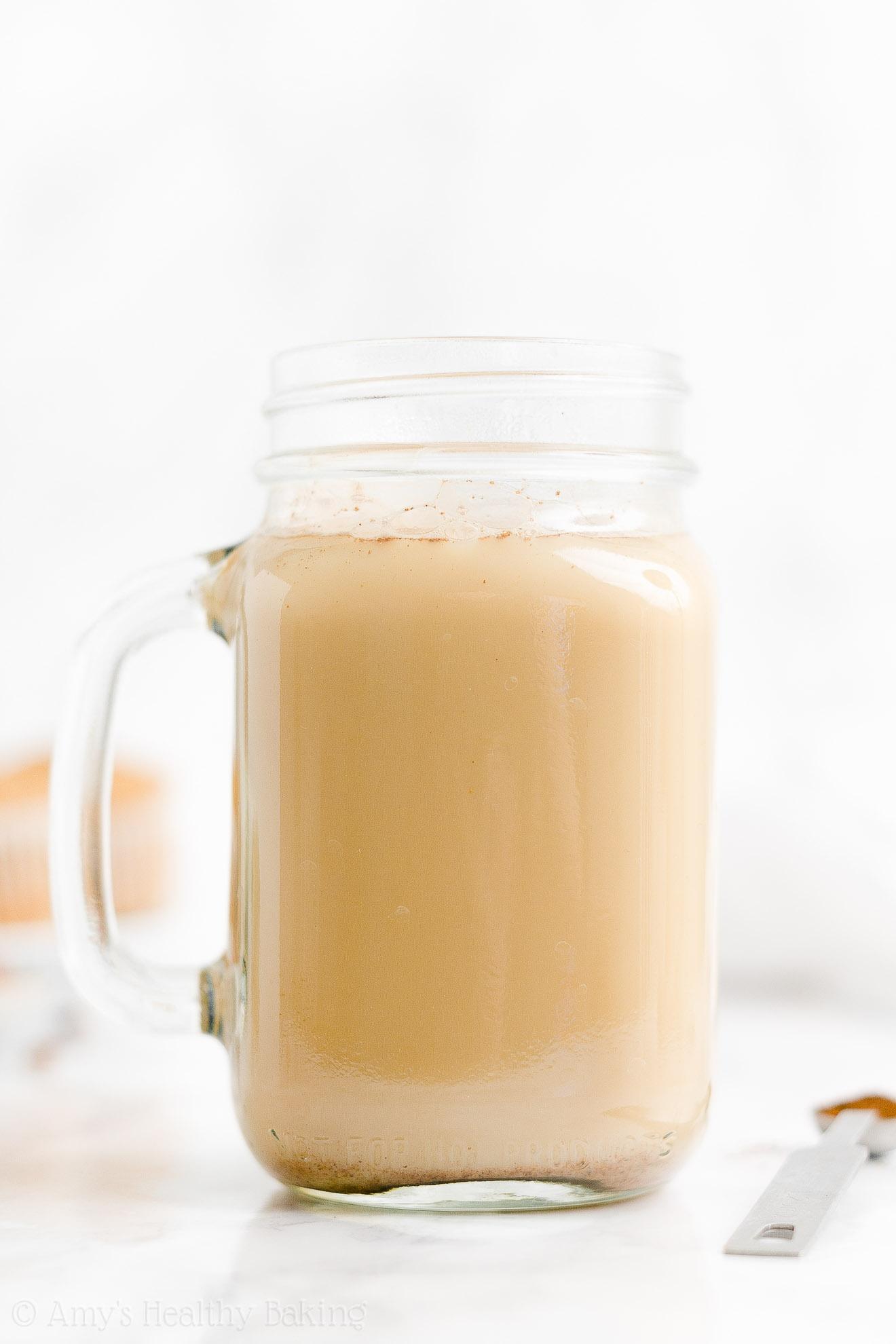 BEST EVER Easy Healthy Vegan Gluten Free Homemade Eggnog Chai Latte