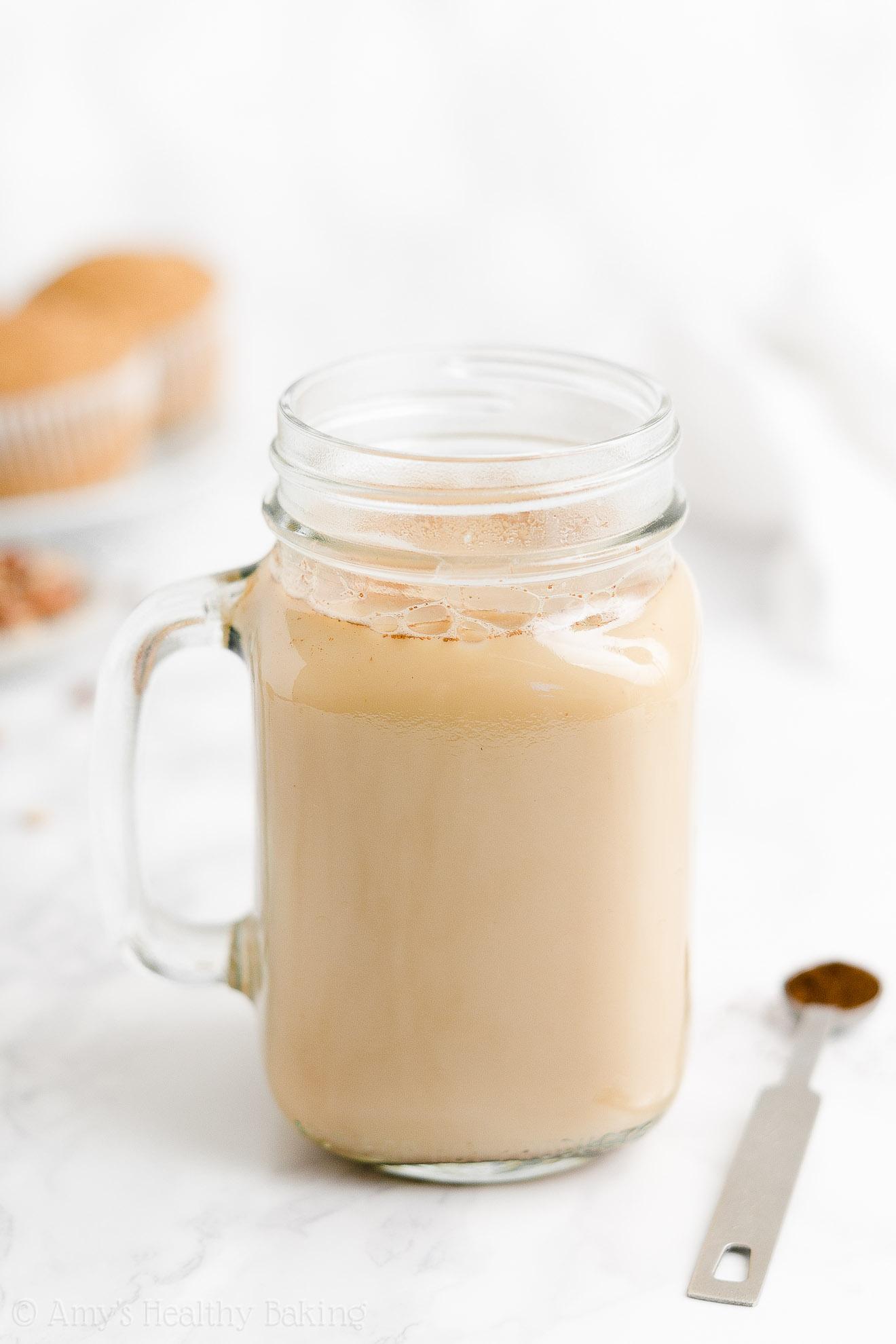 BEST EVER Easy Healthy Vegan Dairy Free Copycat Starbucks Eggnog Chai Latte