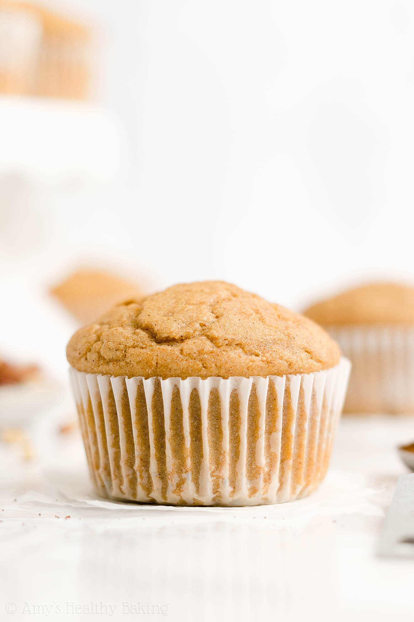 ULTIMATE Best Ever Healthy Low Fat Greek Yogurt Spiced Eggnog Muffins
