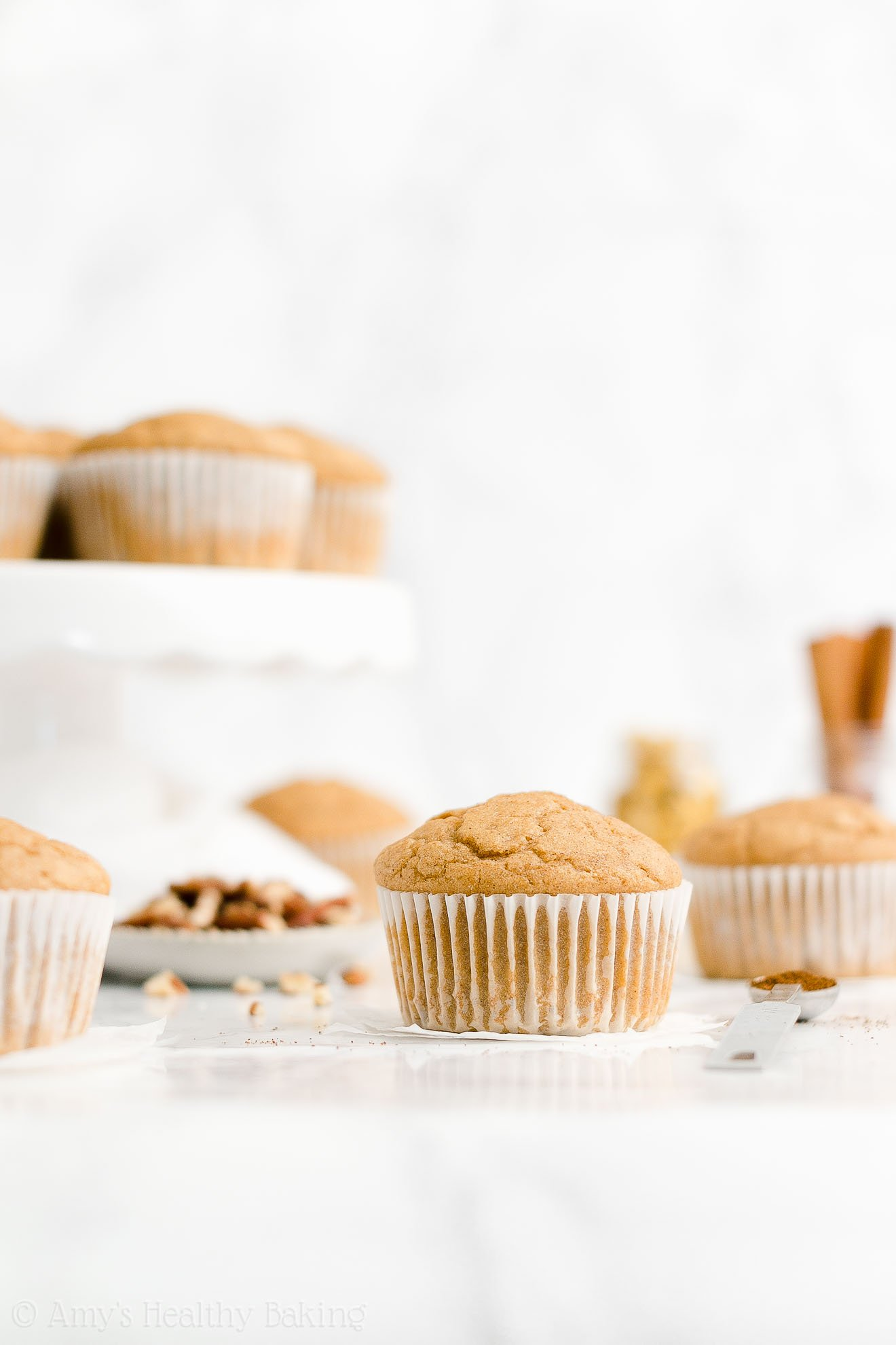 ULTIMATE Best Ever Easy Healthy Low Sugar Spiced Eggnog Muffins