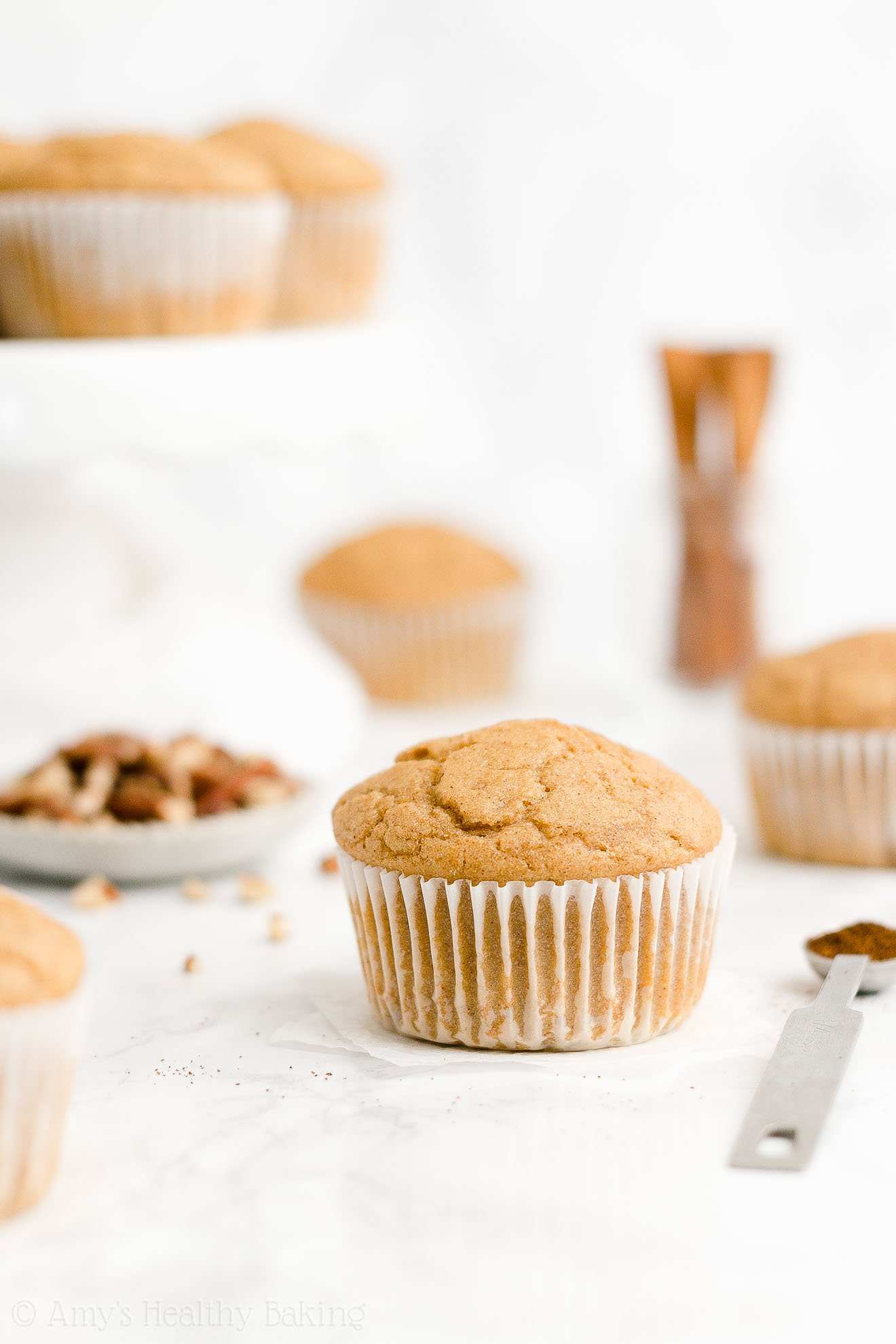 ULTIMATE Best Ever Easy Healthy Whole Wheat No Sugar Eggnog Muffins
