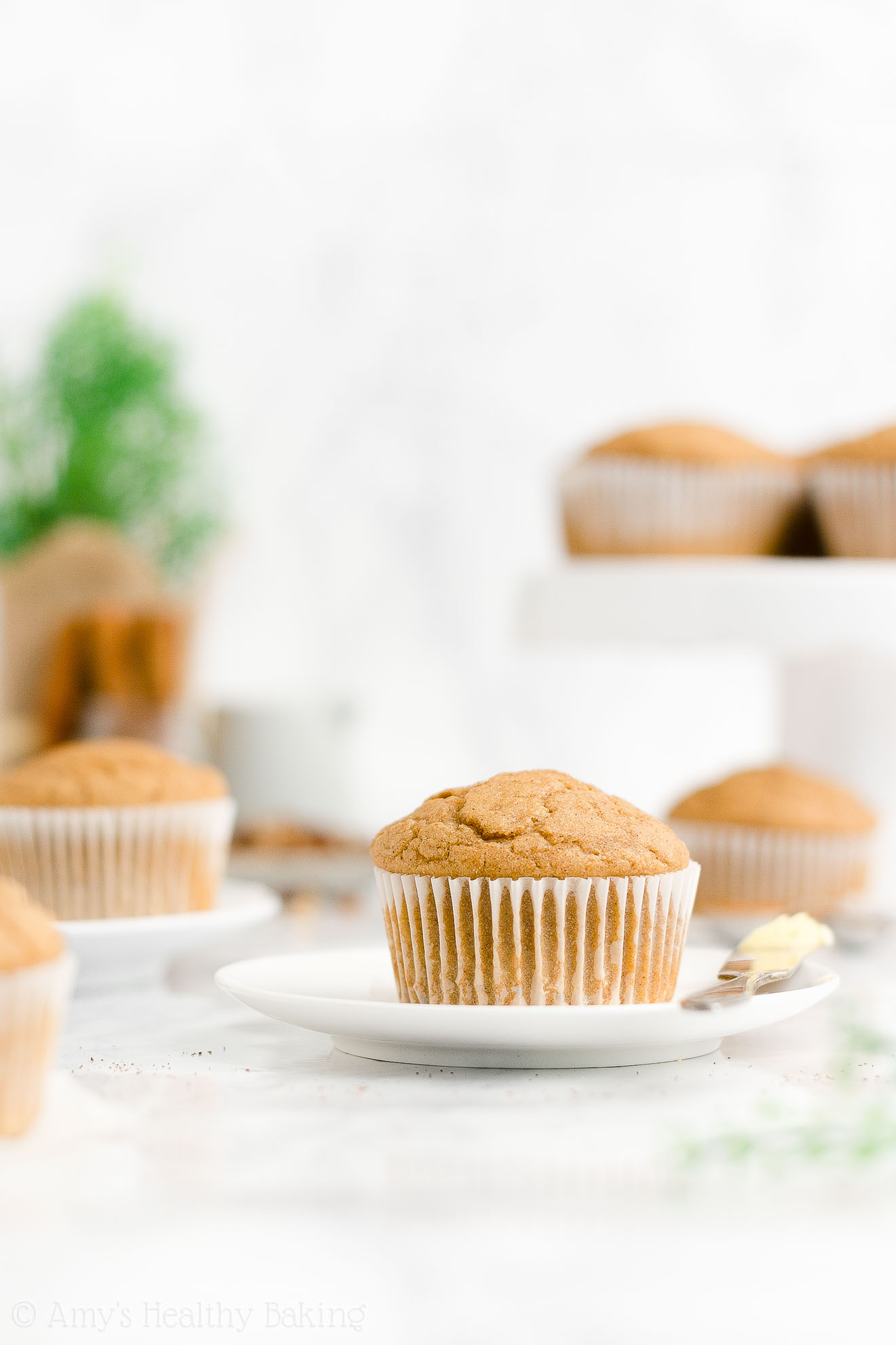 ULTIMATE Best Ever Moist Healthy Gluten Free Low Sugar Spiced Eggnog Muffins