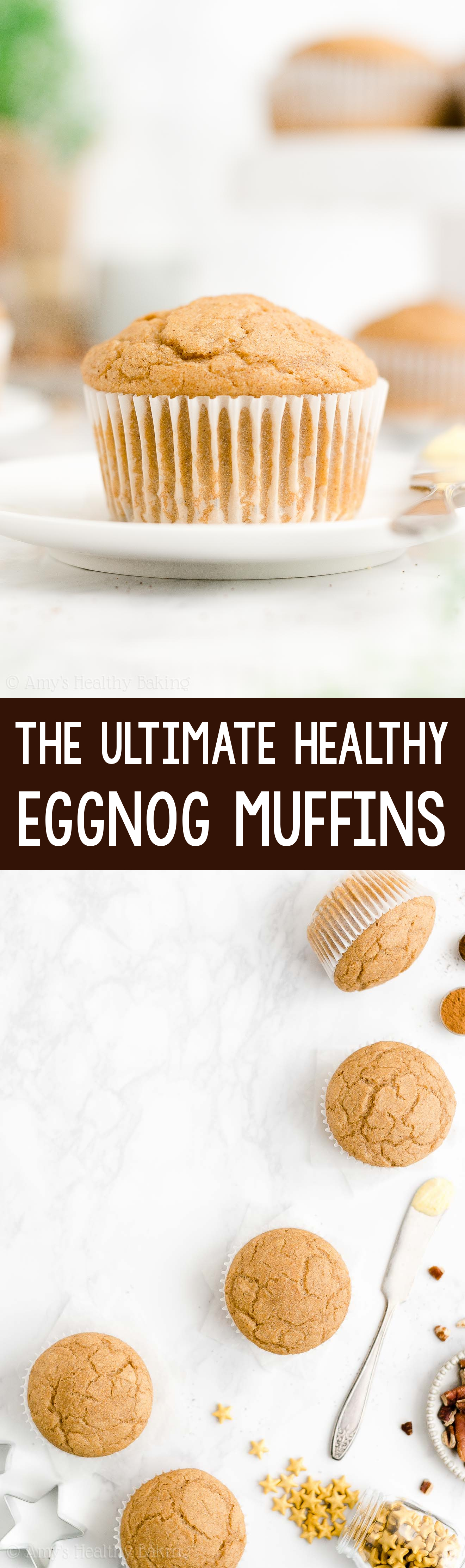 ULTIMATE Best Ever Easy Healthy Low Calorie Eggnog Muffins for Christmas Breakfast