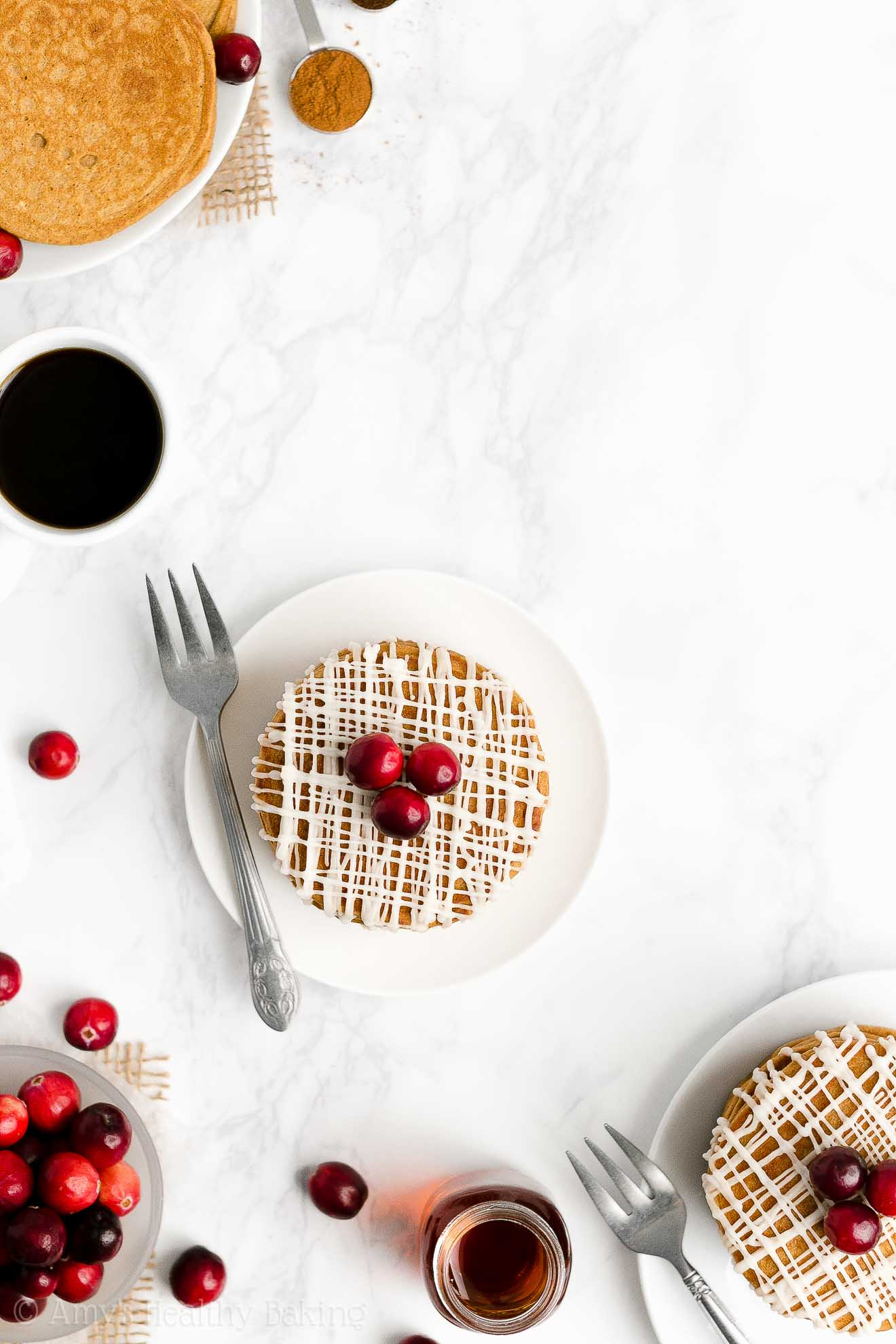 BEST EVER Easy Healthy Clean Eating Weight Watchers Gingerbread Pancakes