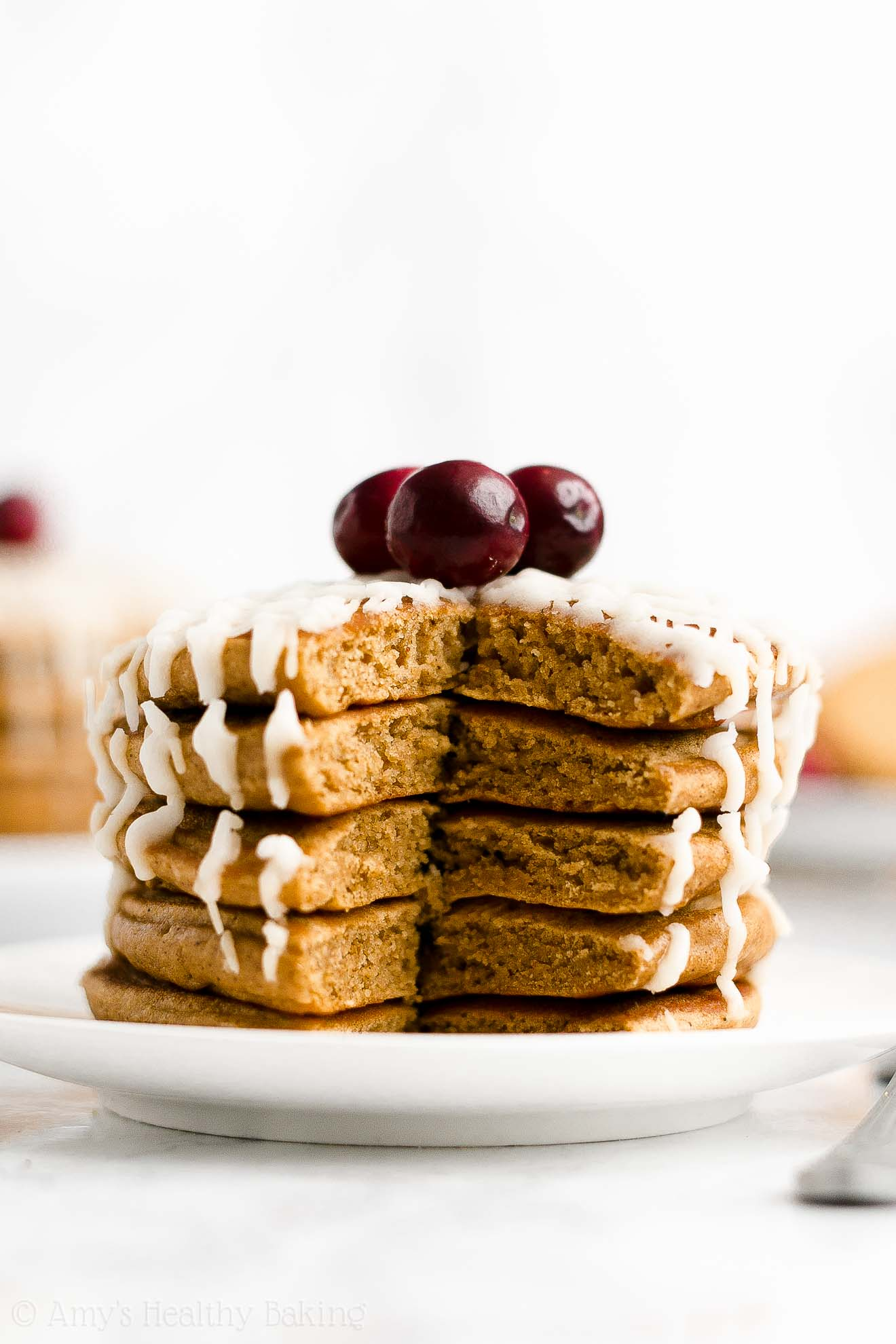 BEST EVER Easy Healthy Sugar Free Gluten Free Fluffy Gingerbread Pancakes