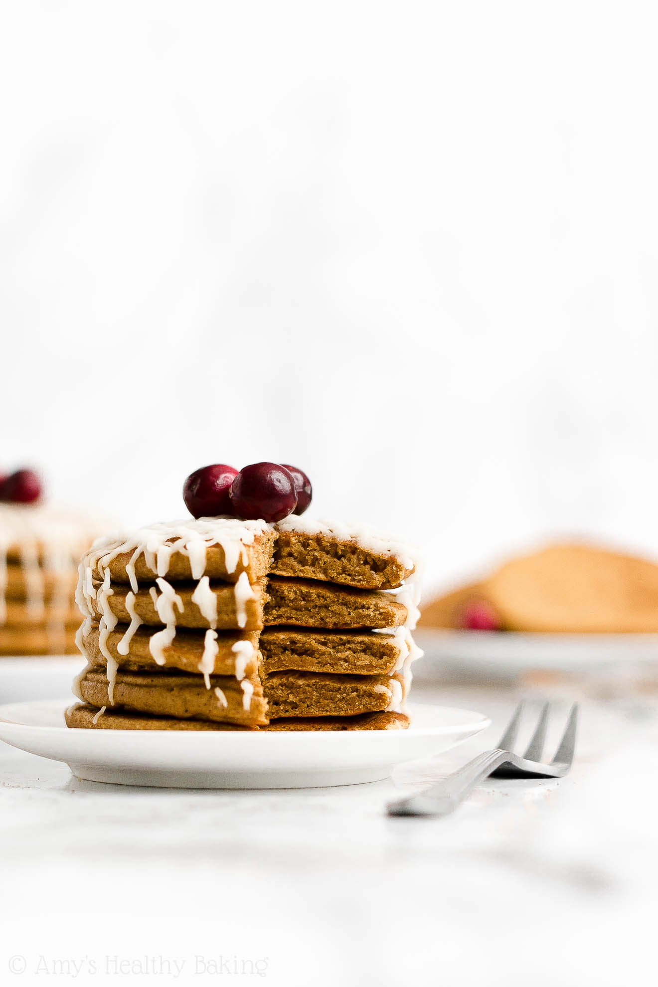BEST EVER Easy Healthy Homemade Low Calorie Fluffy Gingerbread Pancakes