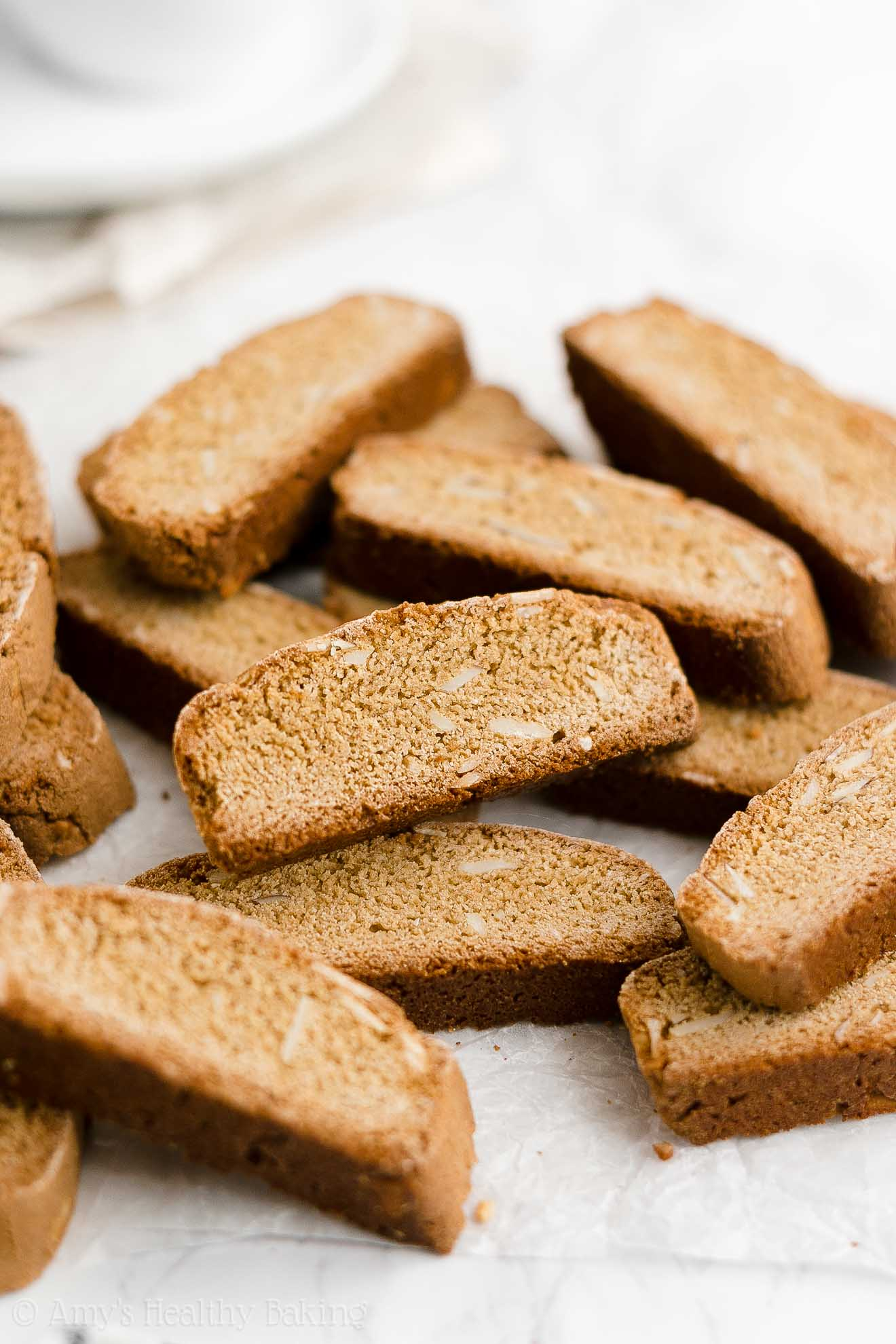 ULTIMATE Best Ever Healthy Whole Wheat Classic Almond Biscotti (No Butter)