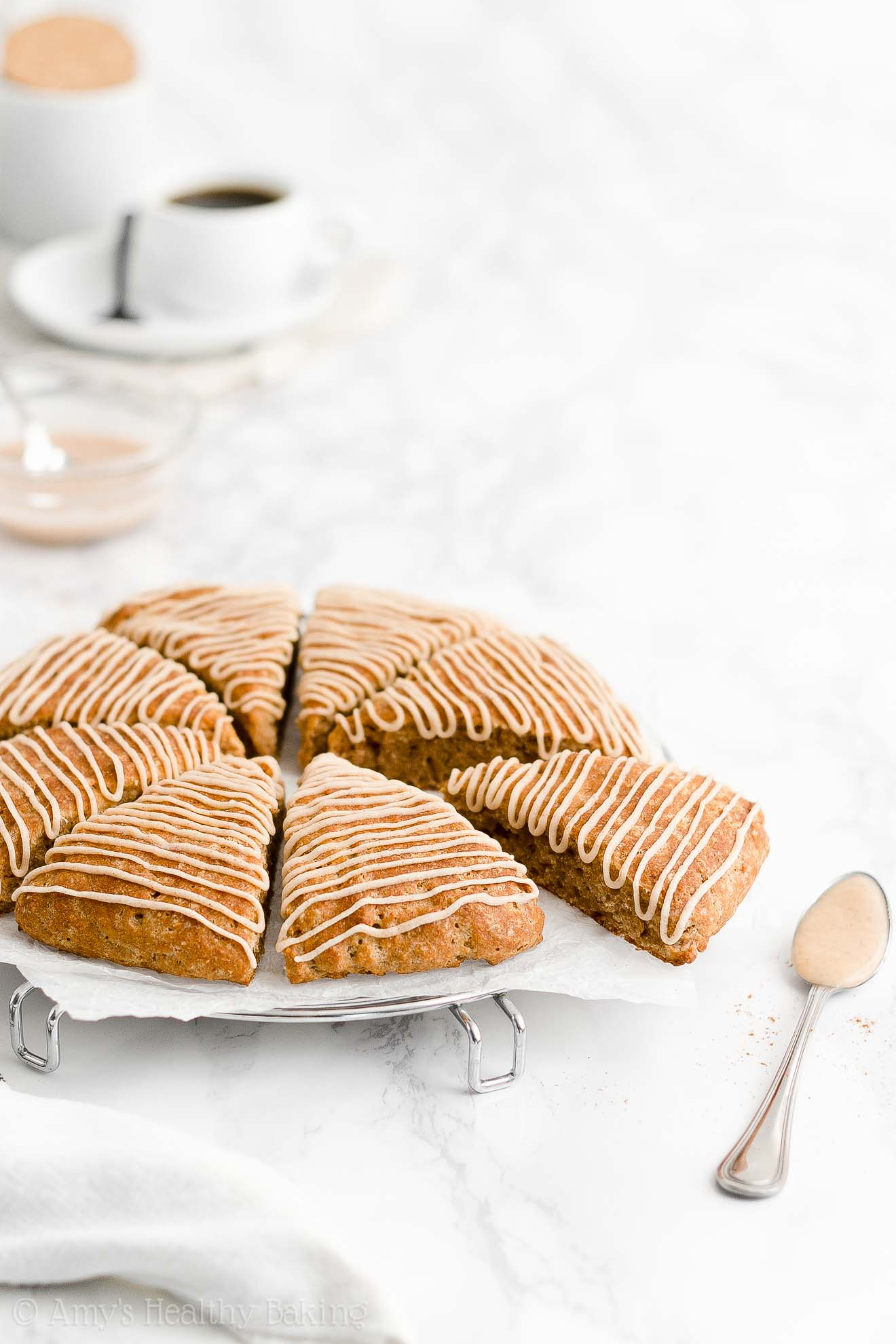 BEST EVER Easy Healthy No Egg Dairy Free Low Calorie Cinnamon Scones