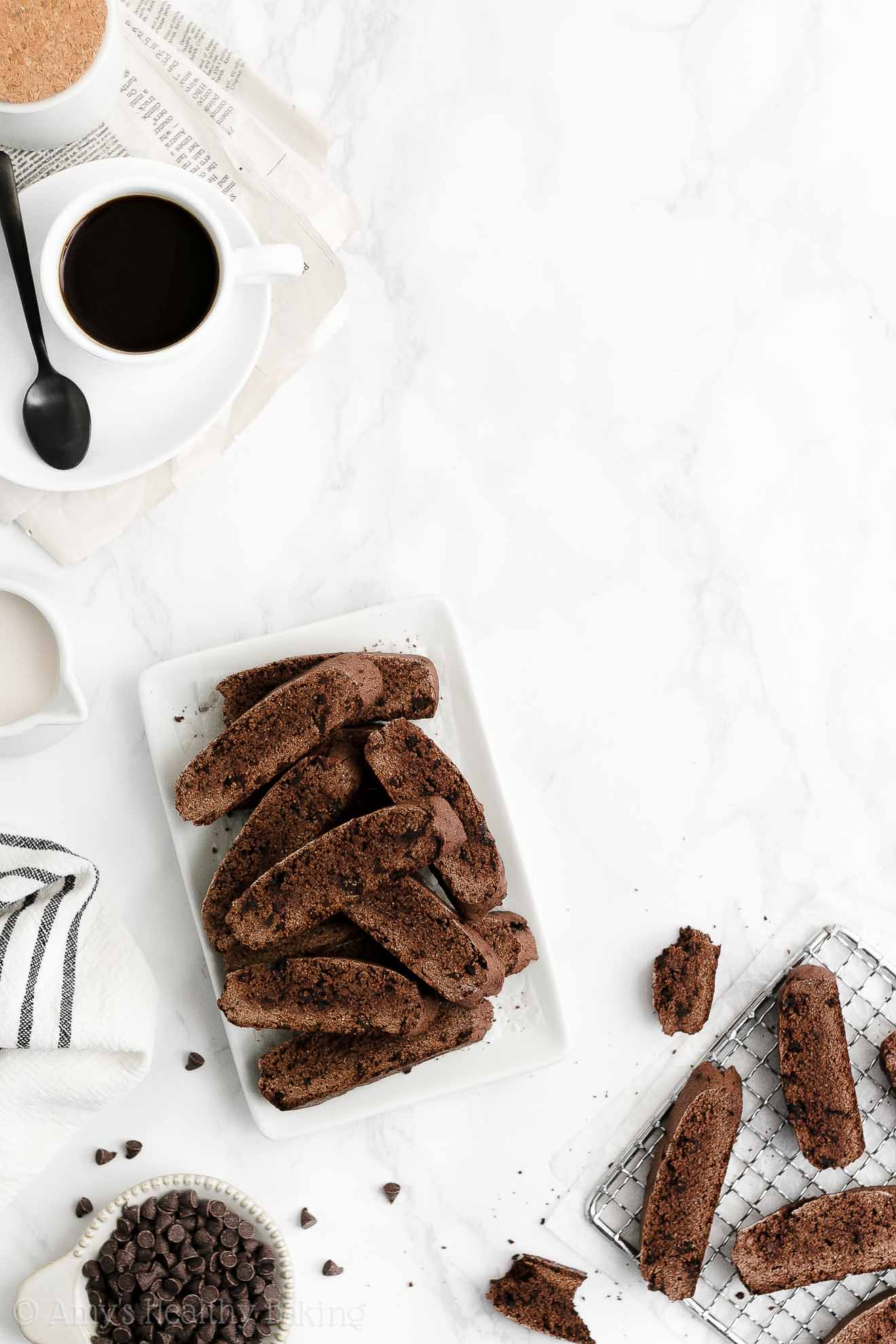ULTIMATE Best Easy Healthy Low Fat Low Calorie Double Dark Chocolate Biscotti
