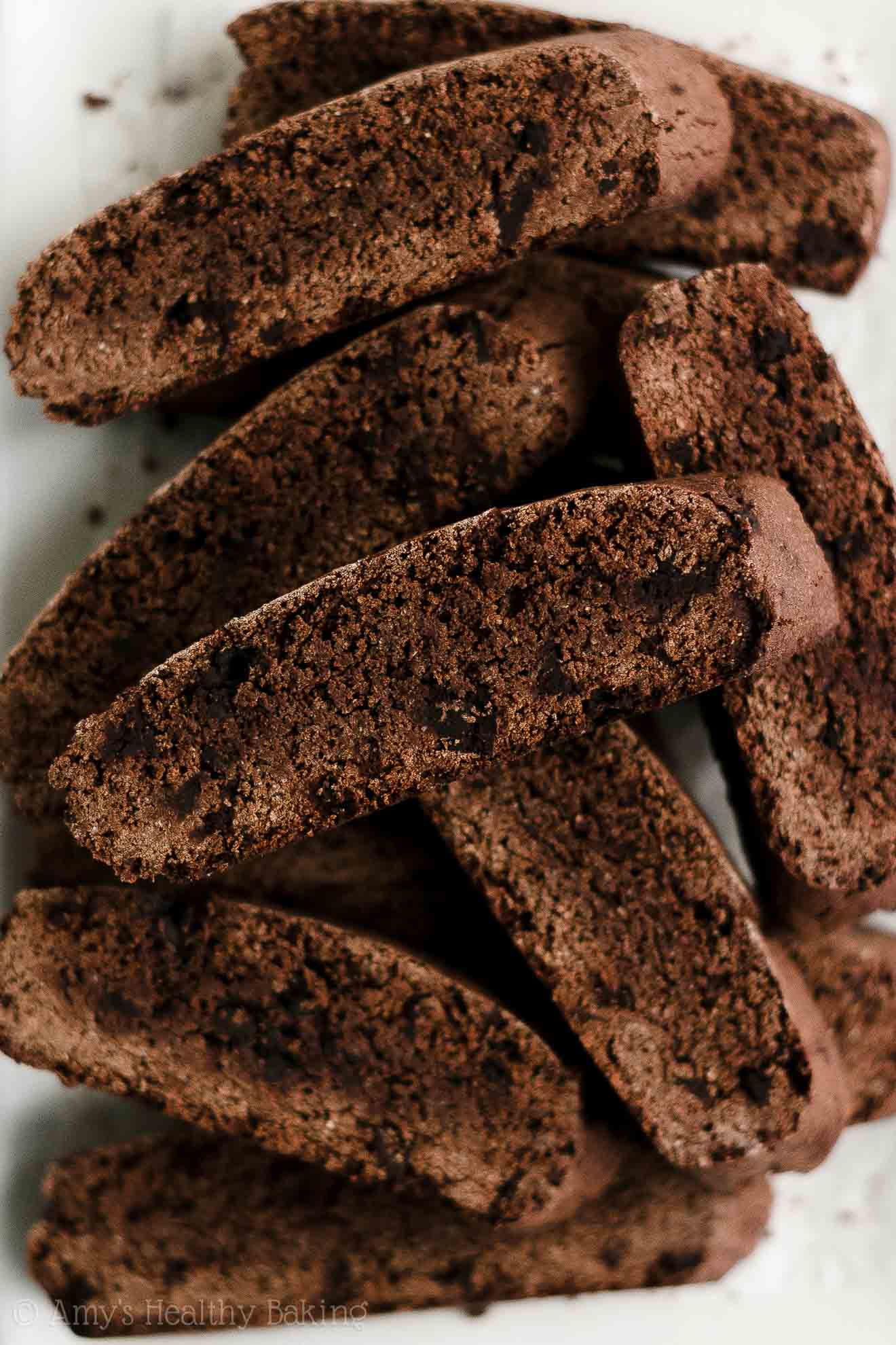 ULTIMATE Best Ever Easy Healthy Low Sugar Double Dark Chocolate Biscotti