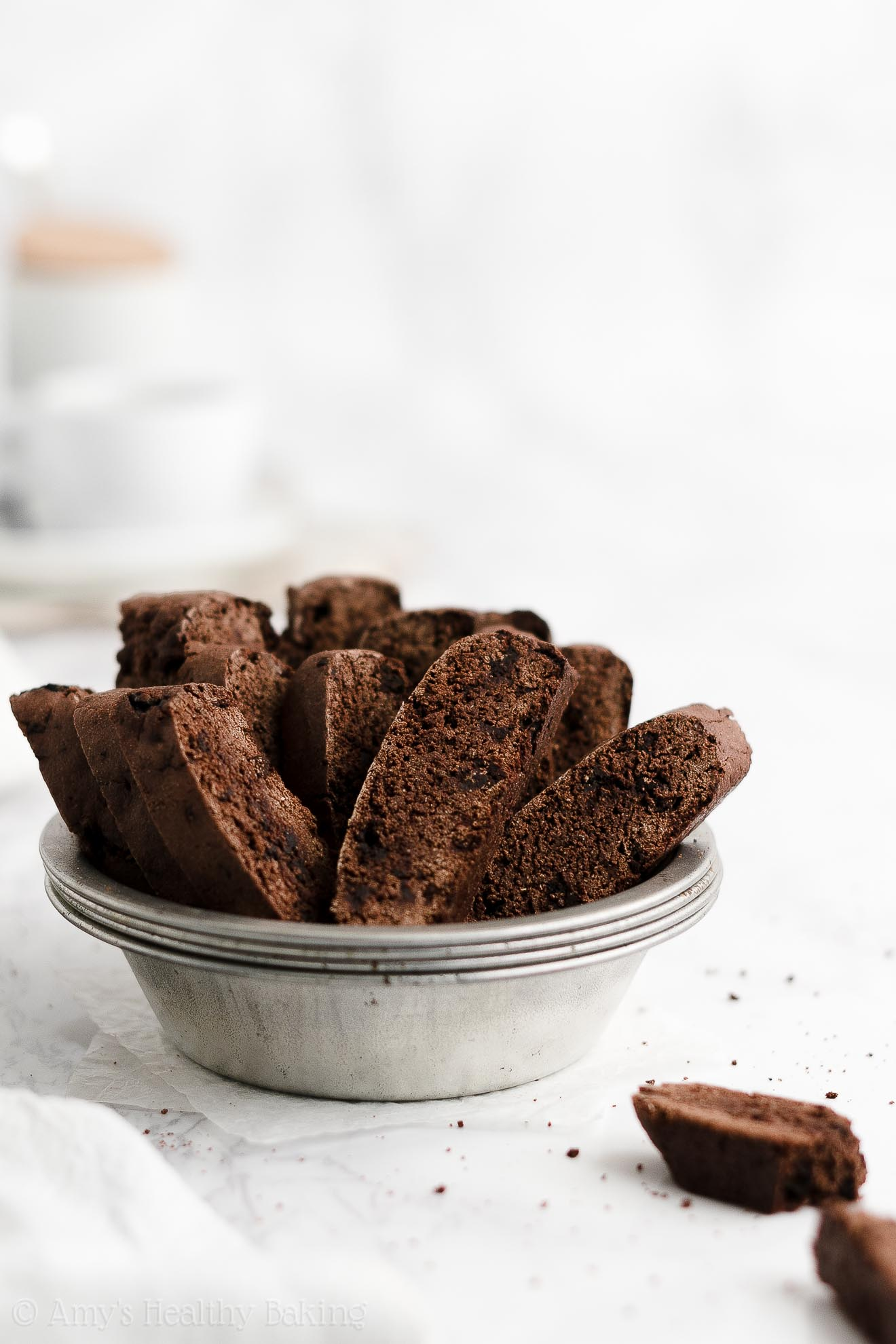 ULTIMATE Best Easy Healthy Low Fat Dairy Free No Butter Dark Chocolate Biscotti