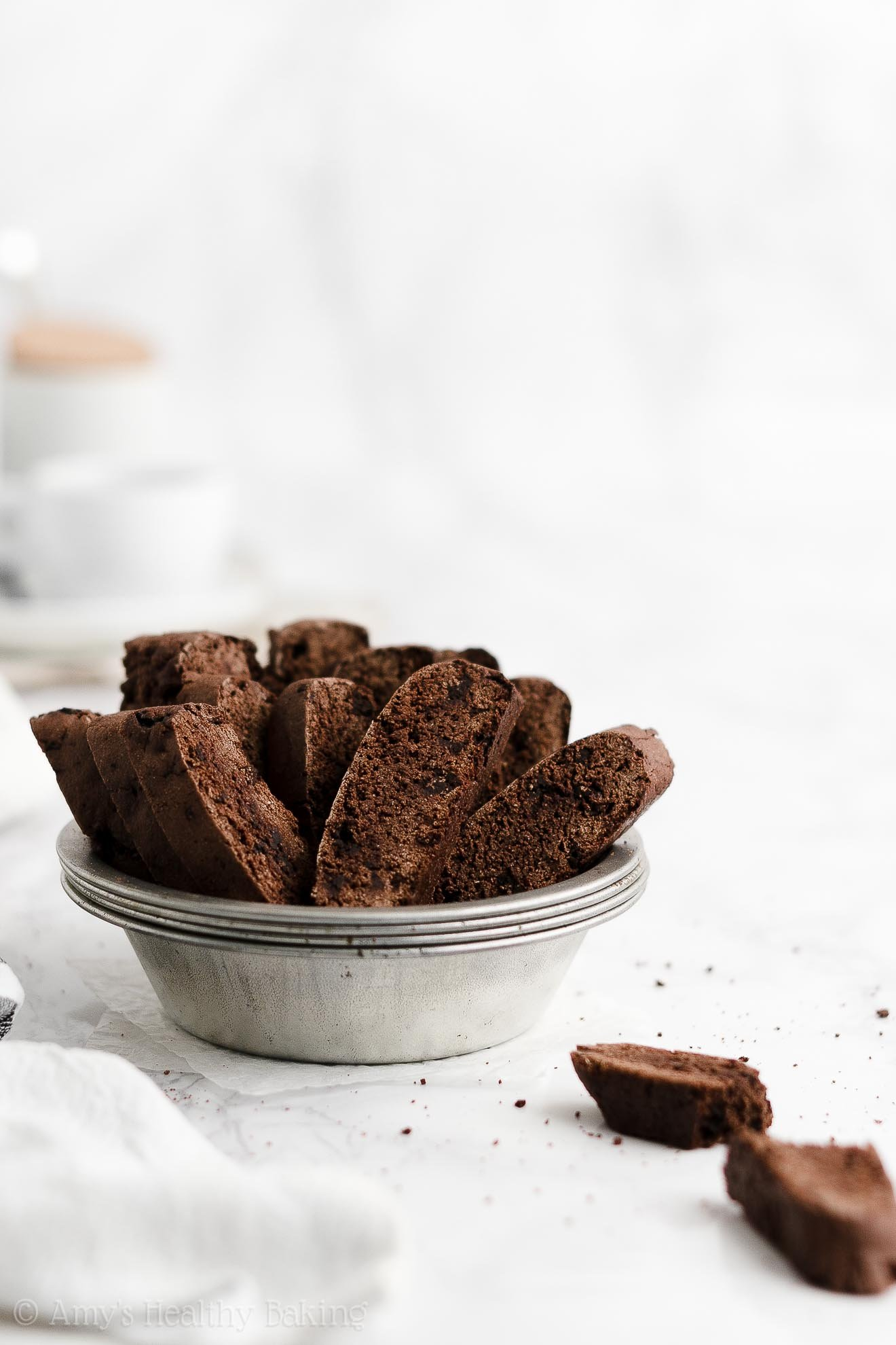 ULTIMATE Best Easy Healthy Gluten Free Dairy Free Double Chocolate Biscotti