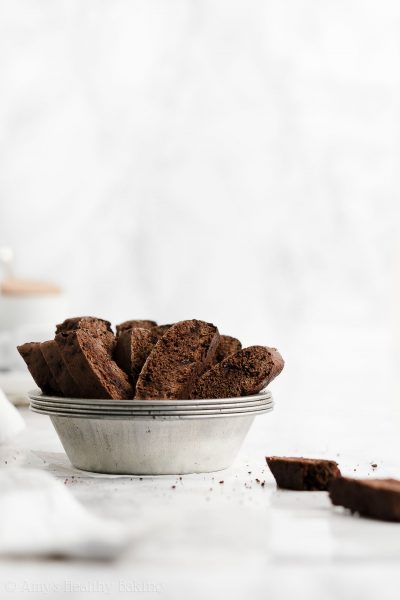 Healthy Double Chocolate Biscotti