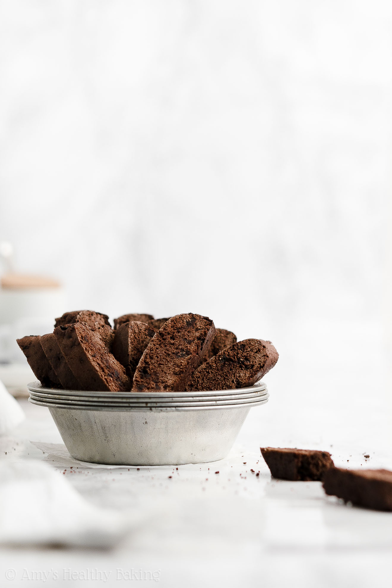 ULTIMATE Best Ever Easy Healthy Chocolate Biscotti Recipe Without Butter or Oil
