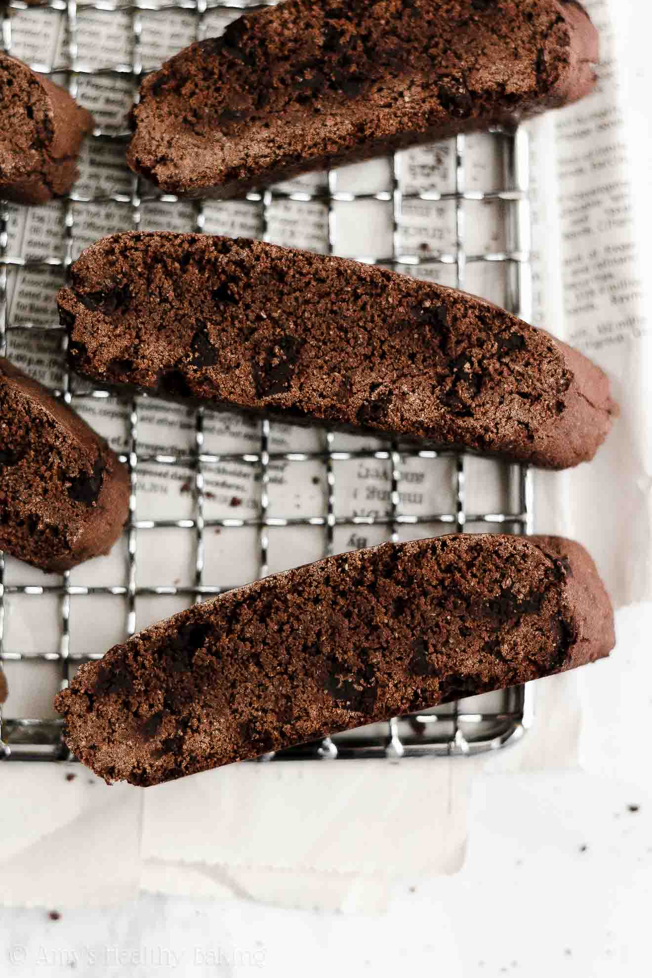 ULTIMATE Best Easy Healthy Clean Eating Weight Watchers Chocolate Biscotti