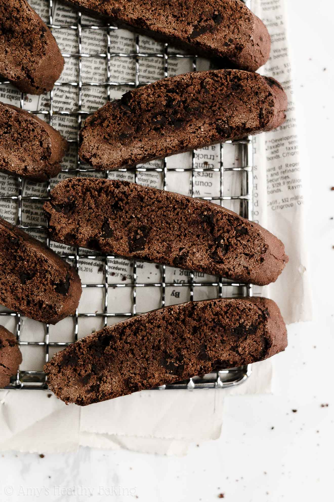 ULTIMATE Best Easy Healthy Whole Wheat Dairy Free Double Chocolate Biscotti