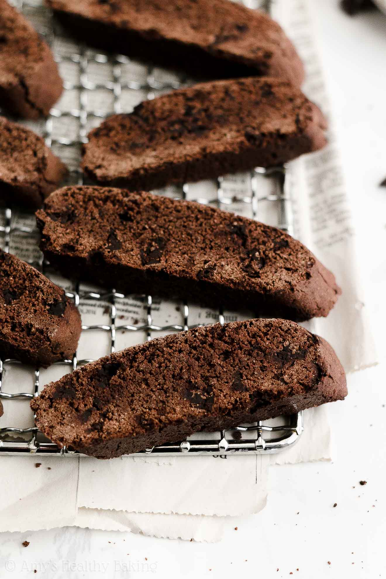 ULTIMATE Best Easy Healthy Double Dark Chocolate Biscotti Without Butter