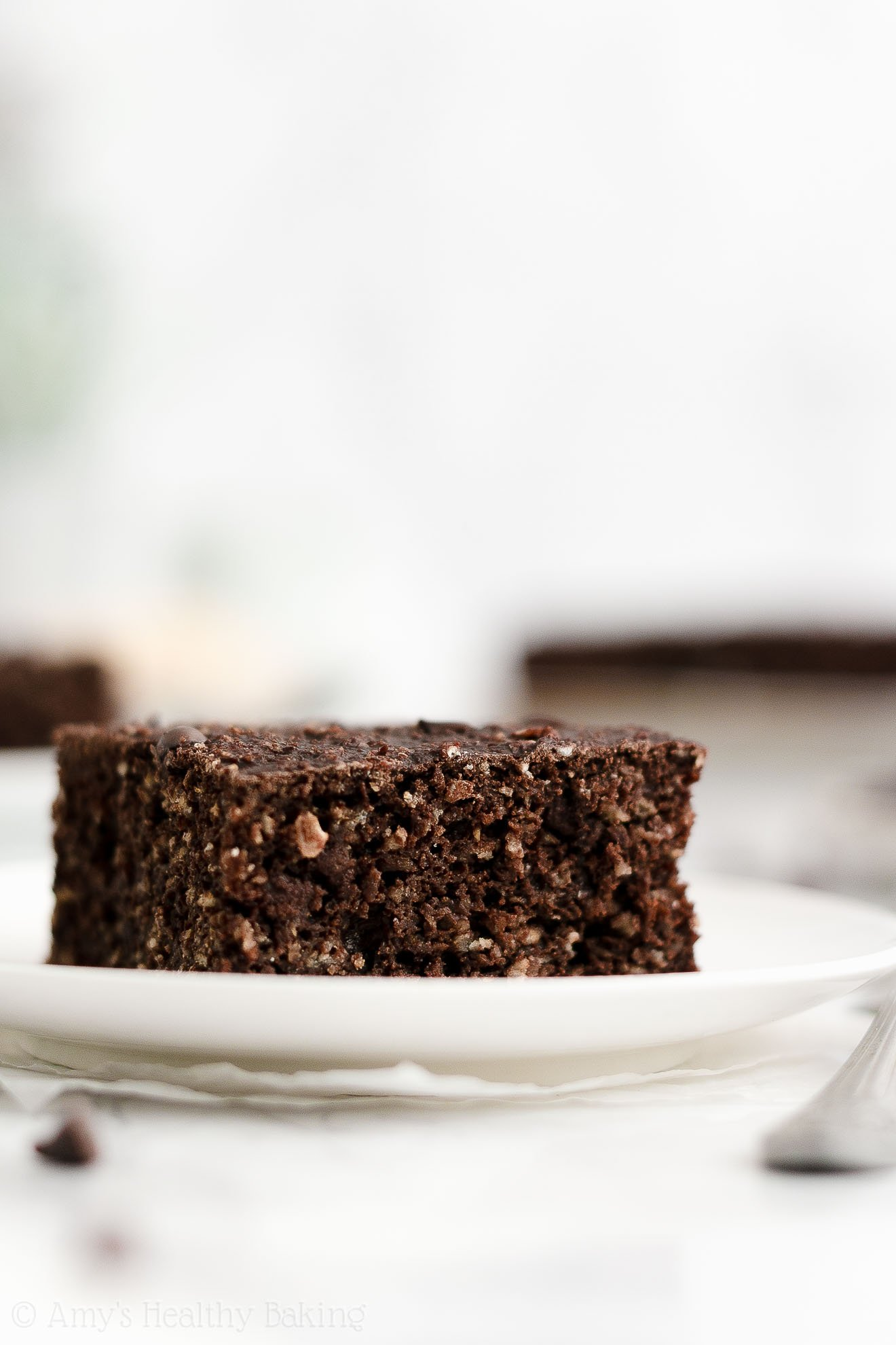 ULTIMATE Easy Healthy Homemade Low Fat Moist Chocolate Oatmeal Snack Cake