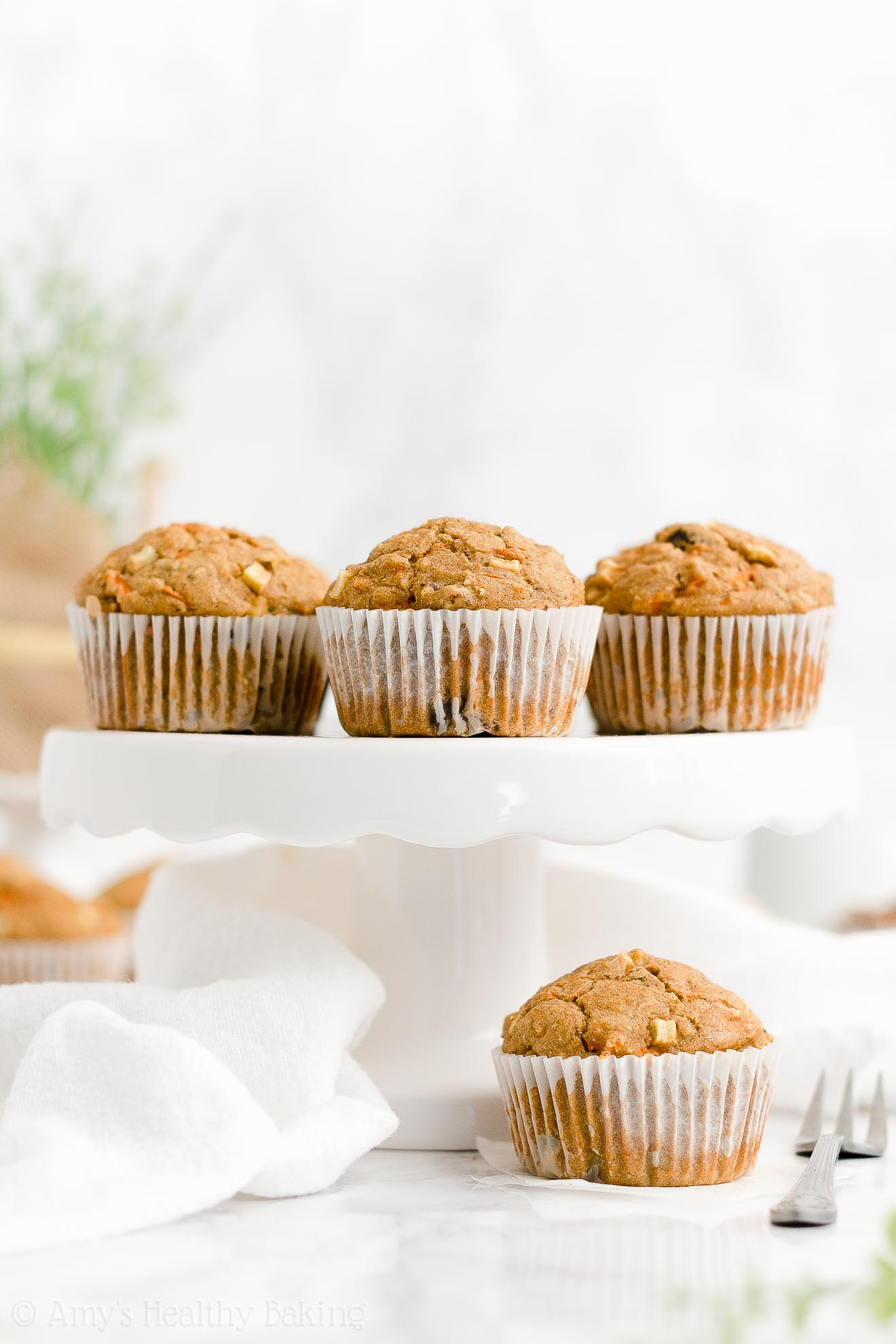 Best Easy Healthy Clean Eating Whole Wheat Morning Glory Oatmeal Muffins