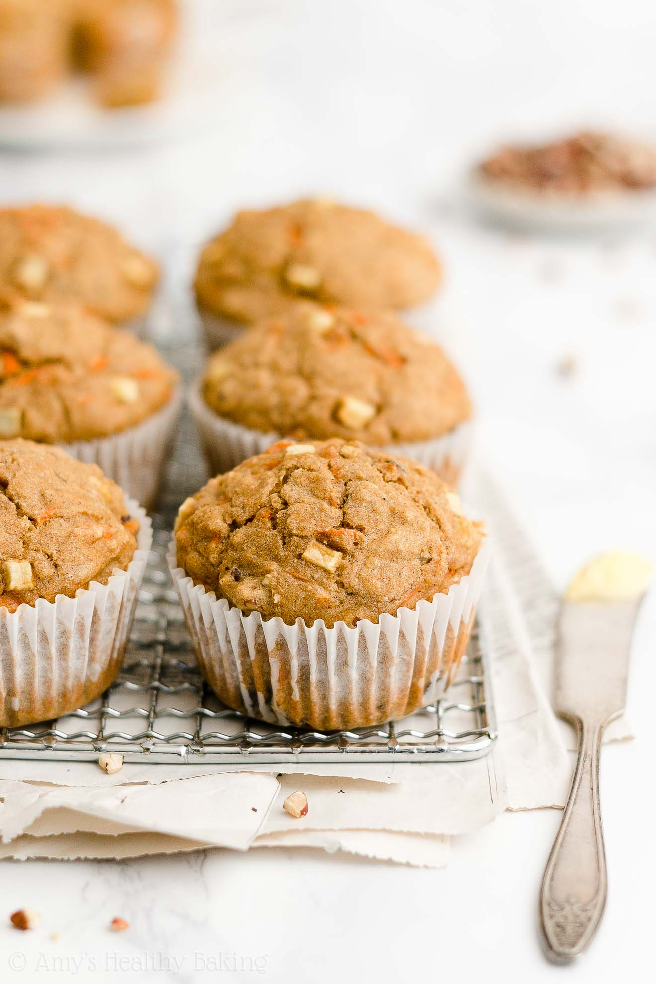 Best Easy Healthy Clean Eating Greek Yogurt Morning Glory Oatmeal Muffins