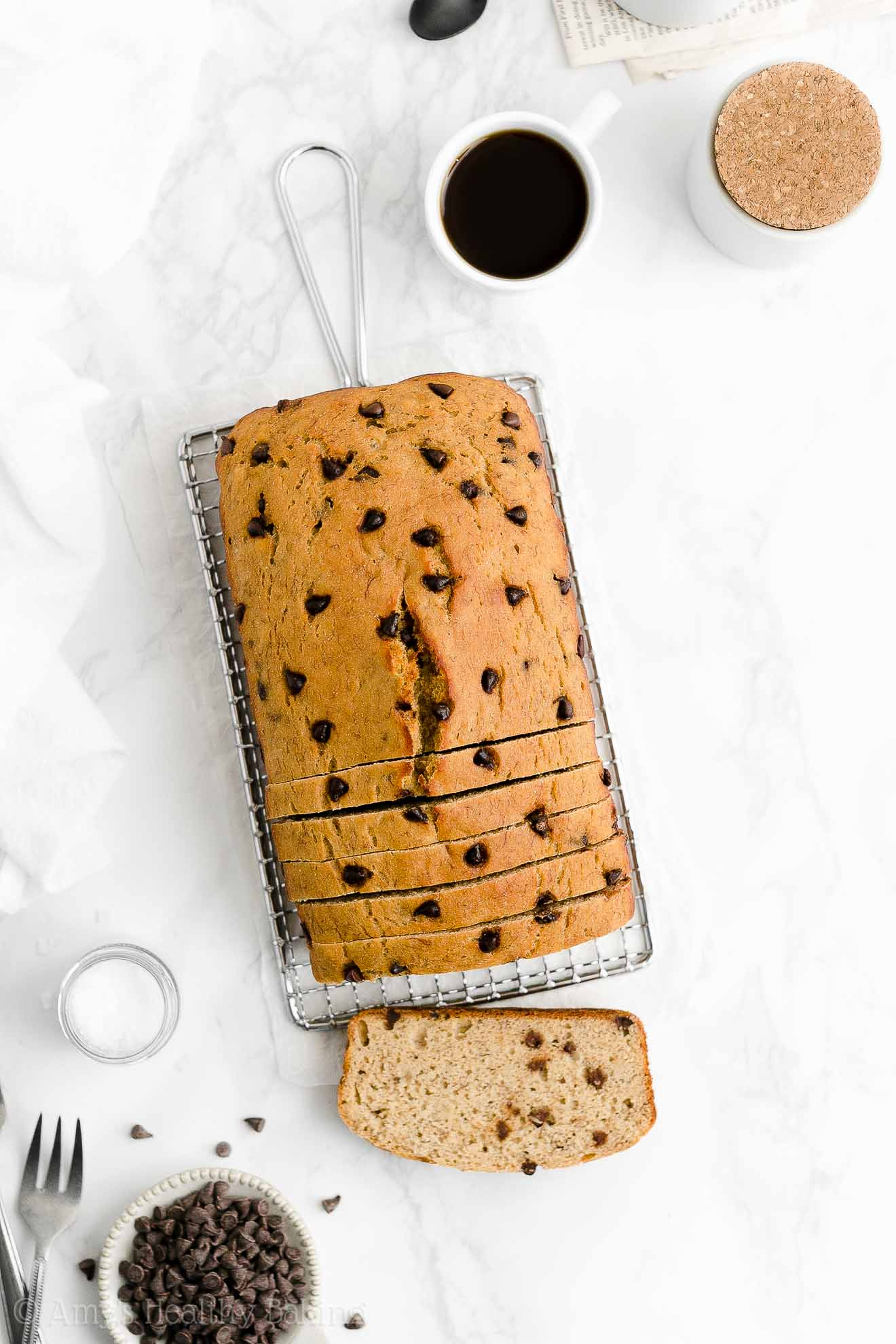 Best Easy Healthy Gluten Free Low Fat One-Bowl Chocolate Chip Banana Bread