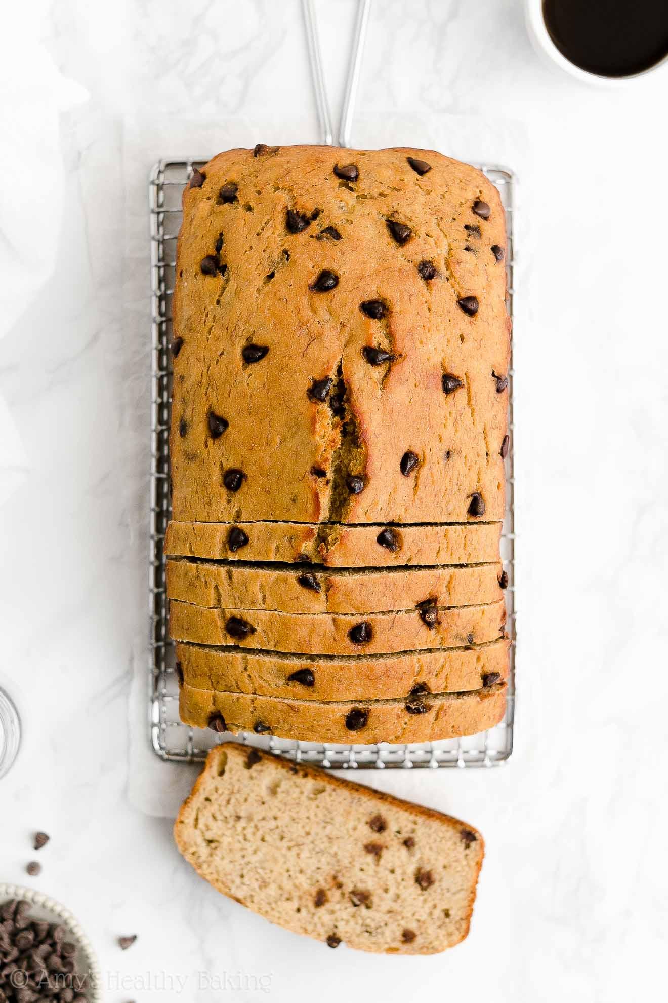 Best Easy Healthy Clean Eating No Sugar Moist Chocolate Chip Banana Bread