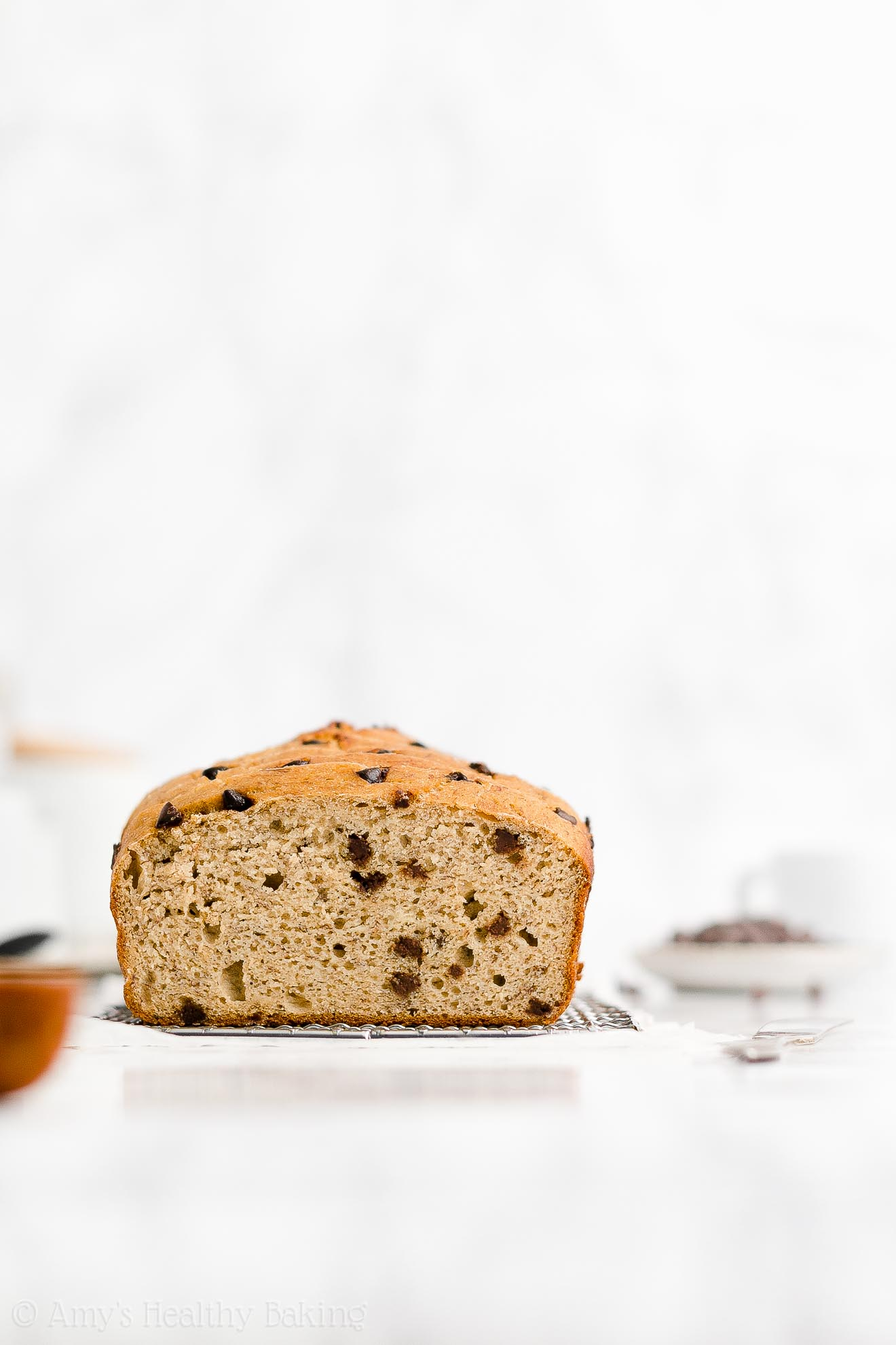 Best Easy Healthy Clean Eating Low Fat One-Bowl Chocolate Chip Banana Bread