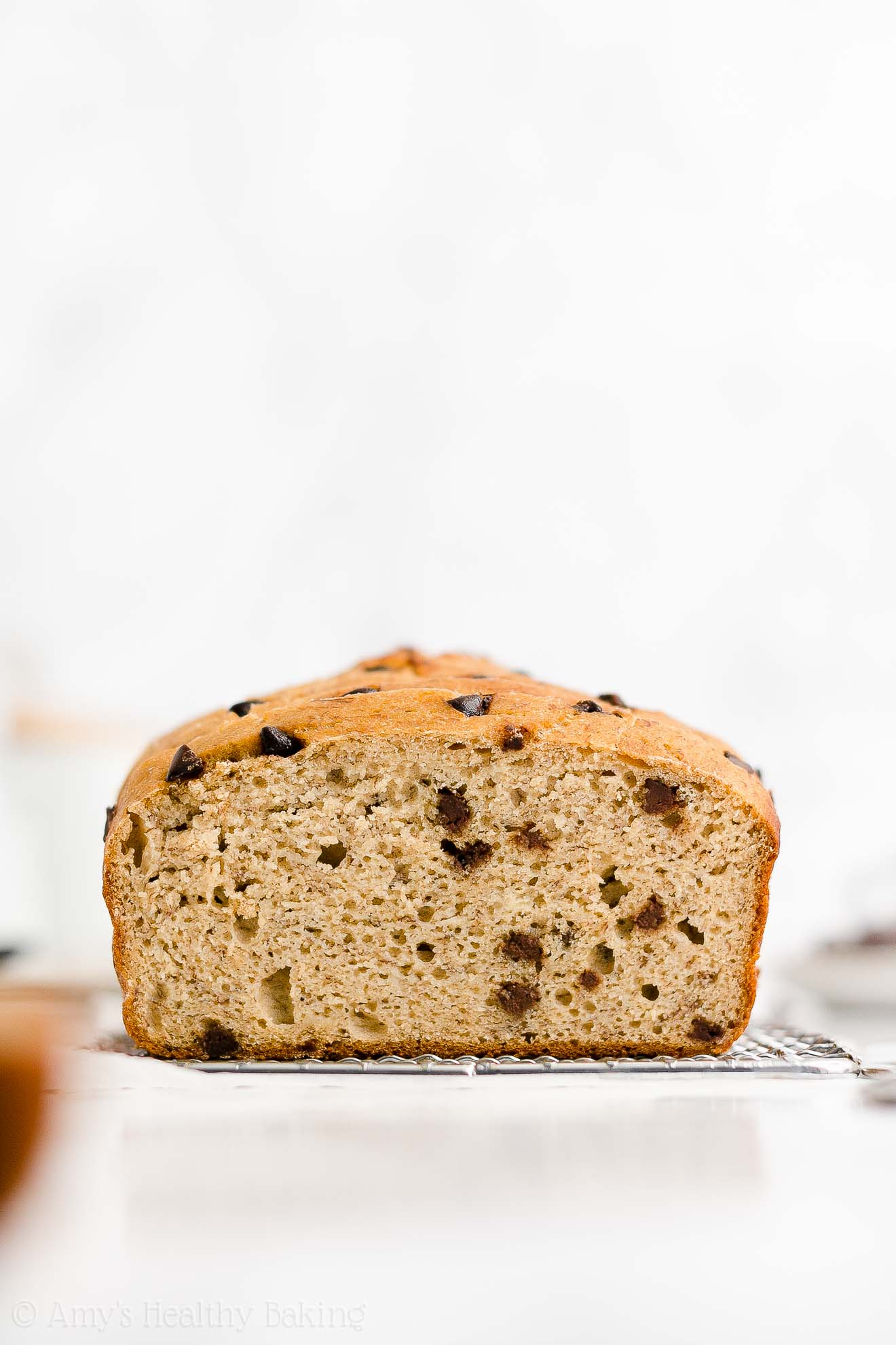 Best Easy Healthy Whole Wheat Low Sugar Moist Chocolate Chip Banana Bread