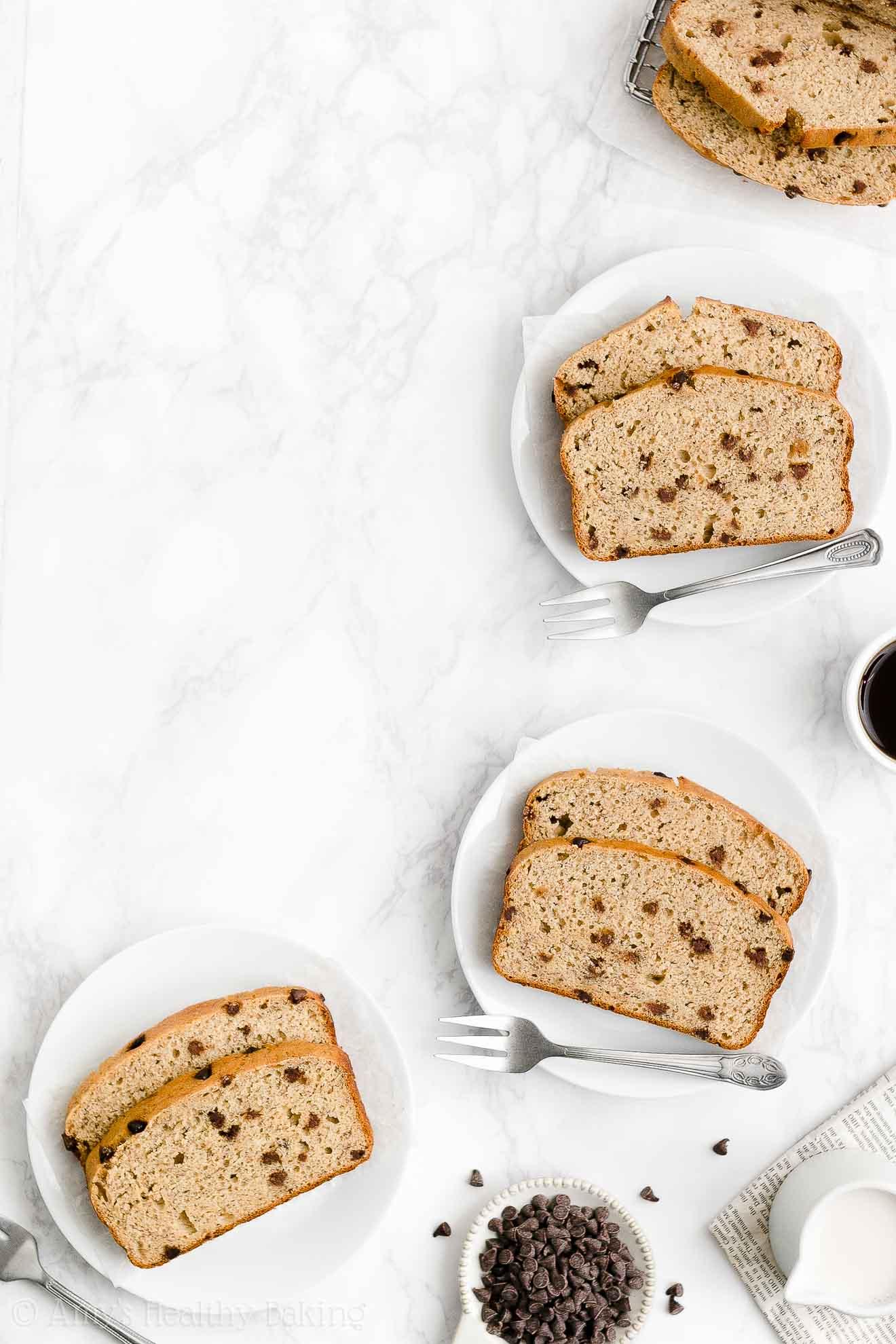 Best Easy Healthy Whole Wheat Sugar Free Moist Chocolate Chip Banana Bread