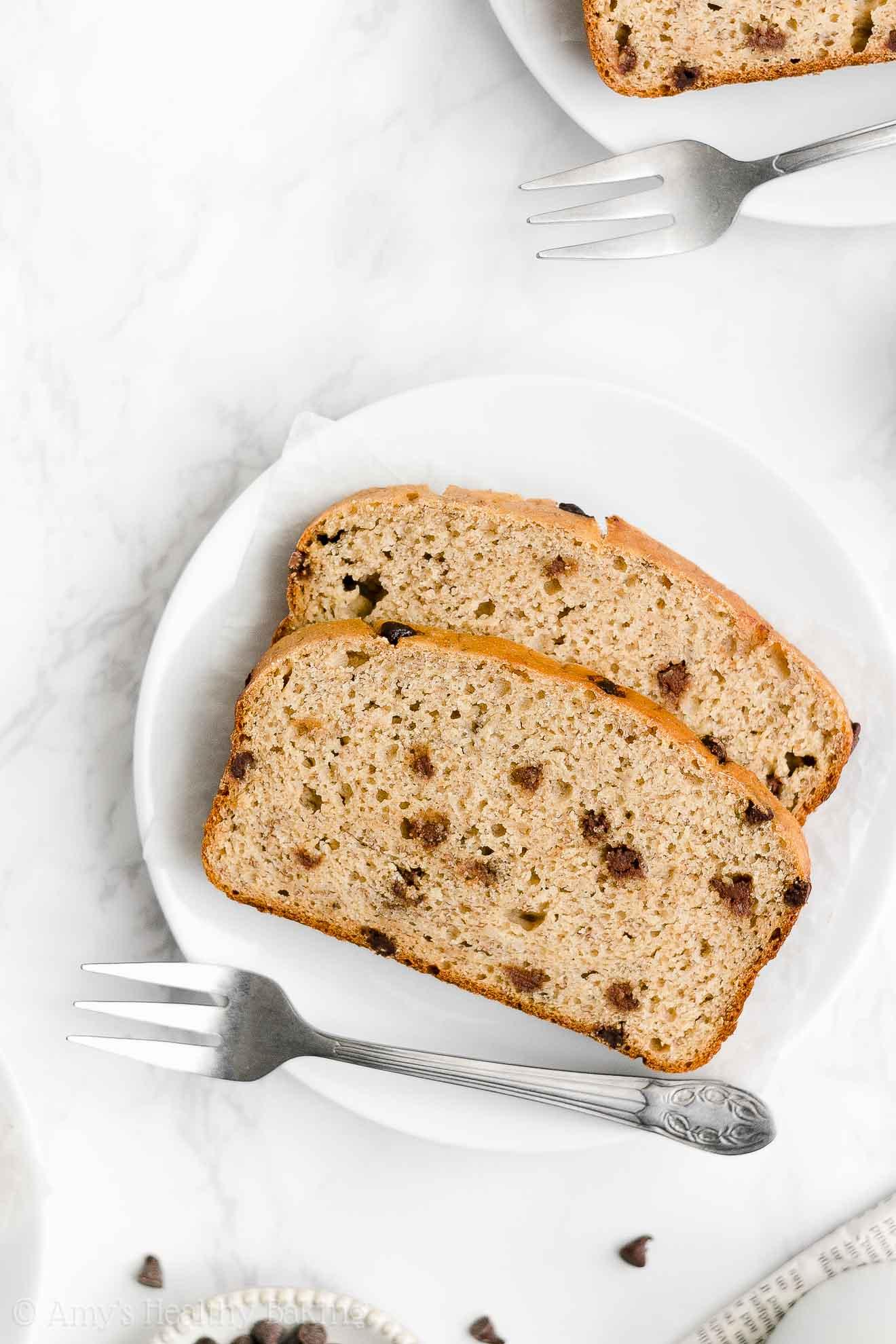 Best Ever Easy Healthy Gluten Free No Sugar Moist Chocolate Chip Banana Bread
