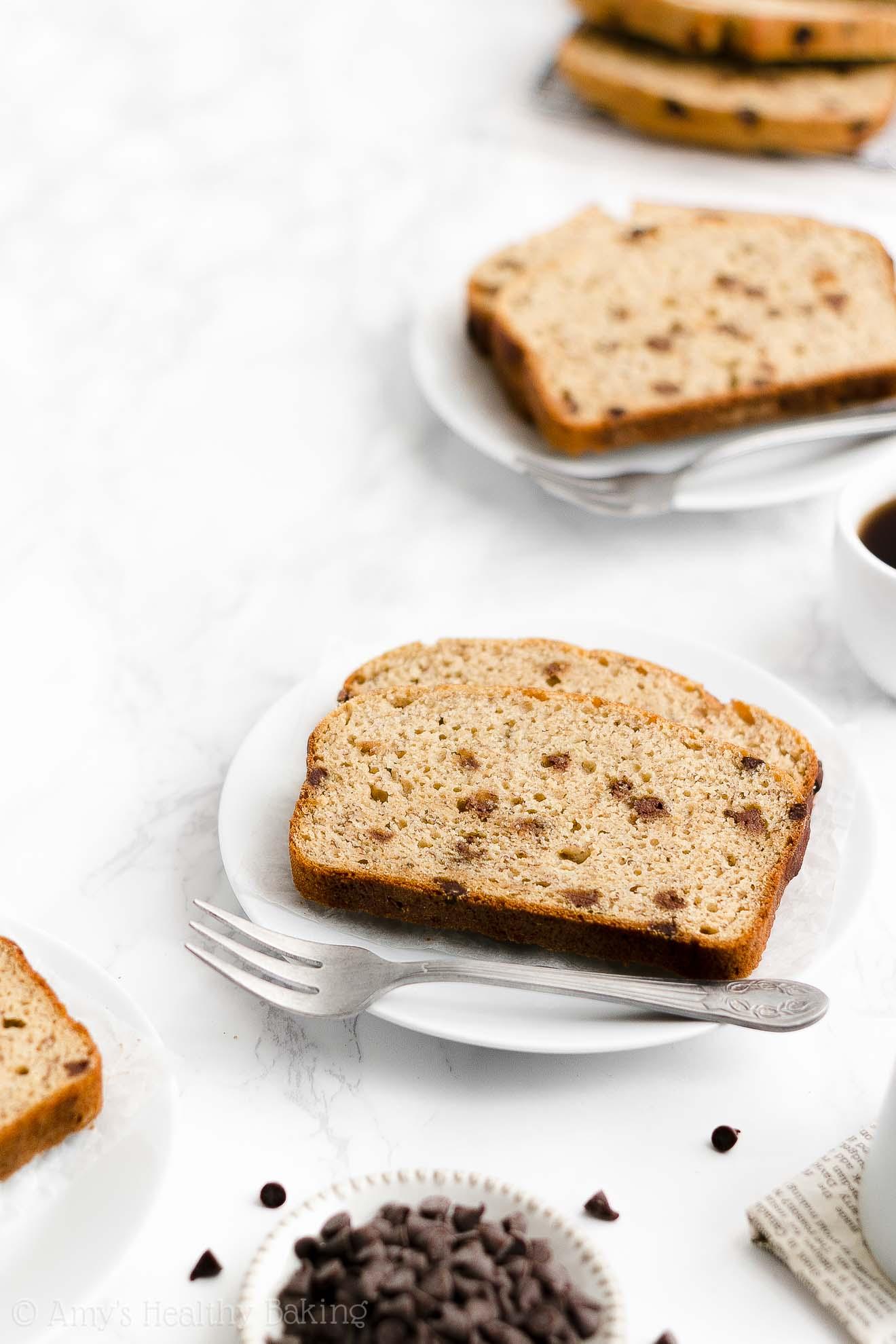 Best Easy Healthy Weight Watchers Sugar Free Chocolate Chip Banana Bread