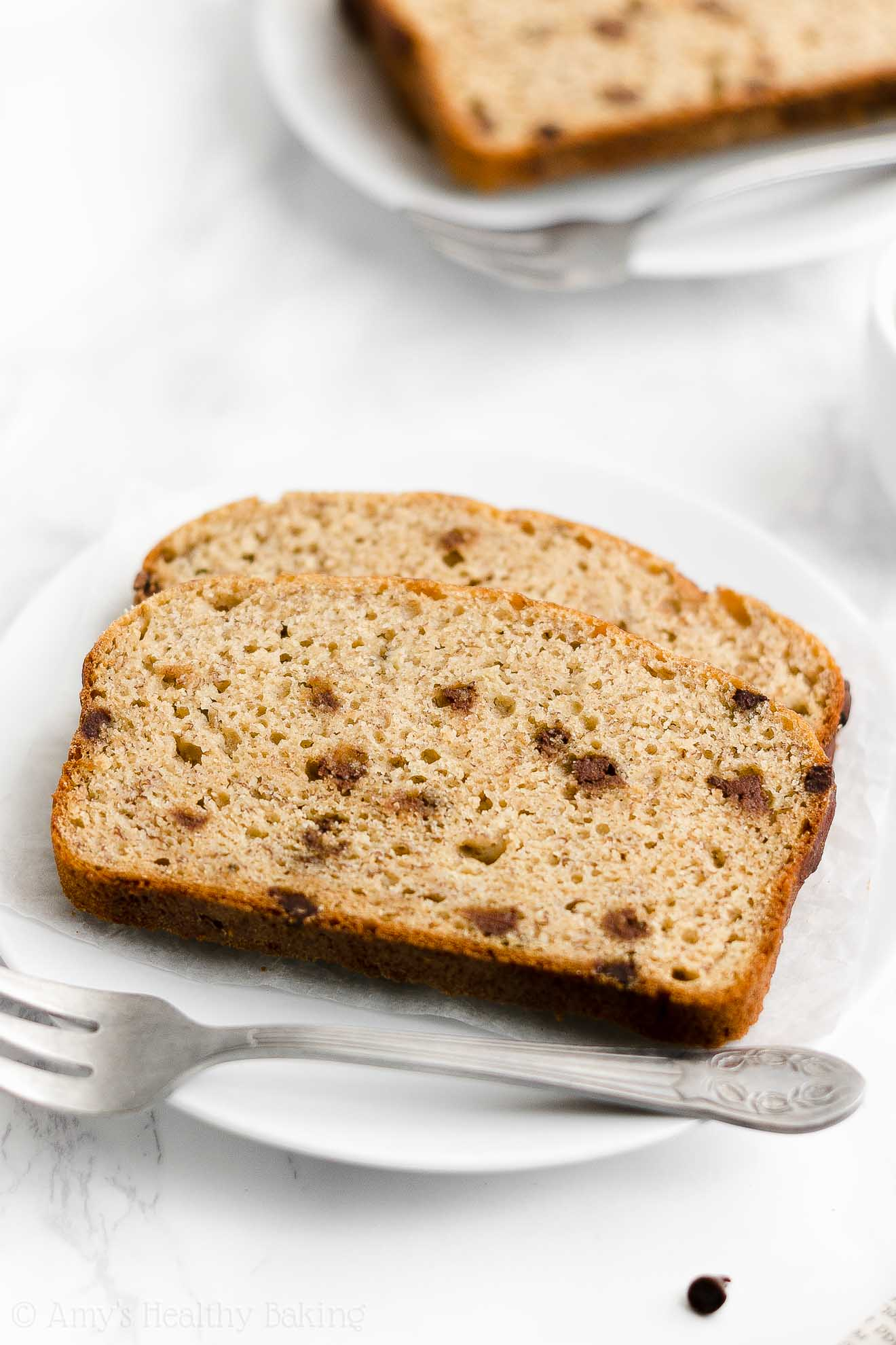 Best Easy Healthy Low Calorie No Sugar One-Bowl Chocolate Chip Banana Bread