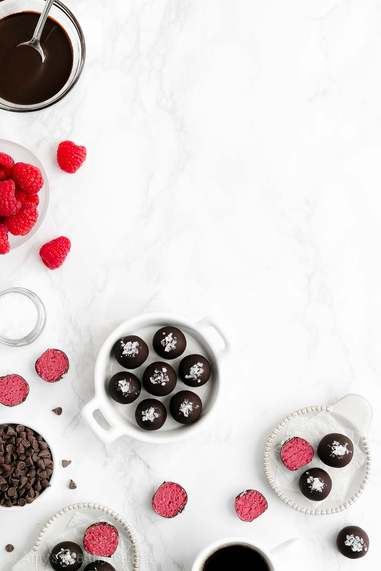 How to make the ULTIMATE Best Easy Healthy Homemade Raspberry Truffles