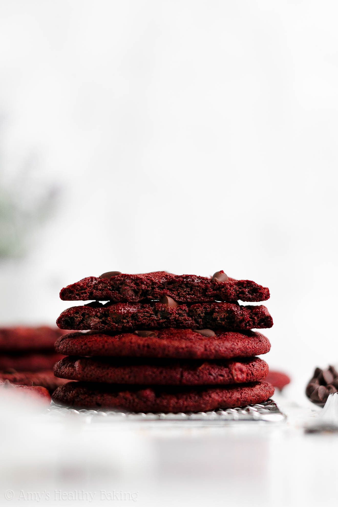 ULTIMATE Best Easy Healthy Low Calorie Red Velvet Cookies for Valentine's Day