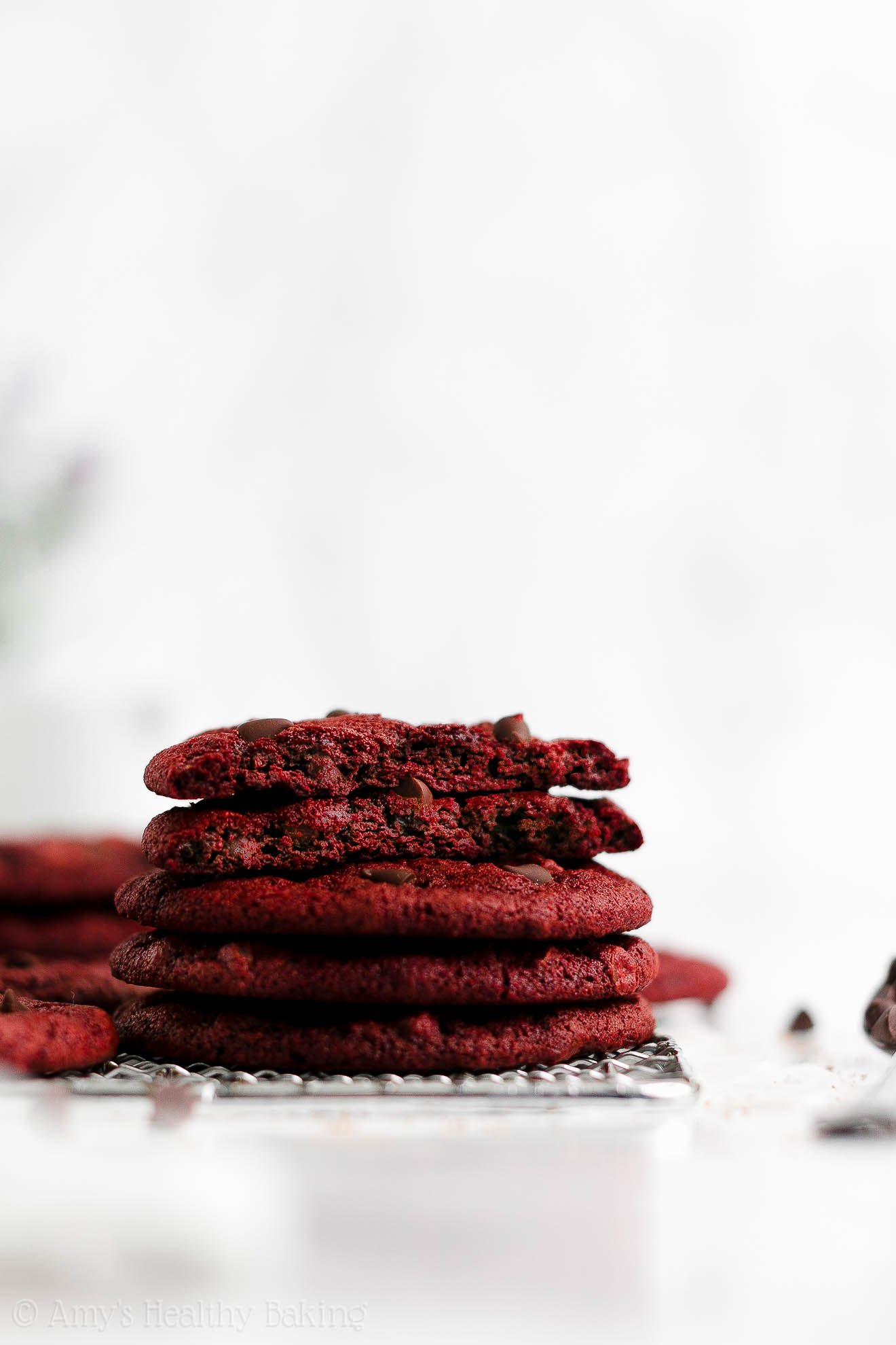 ULTIMATE Best Easy Healthy Soft Chewy Vegan Red Velvet Cookies No Eggs