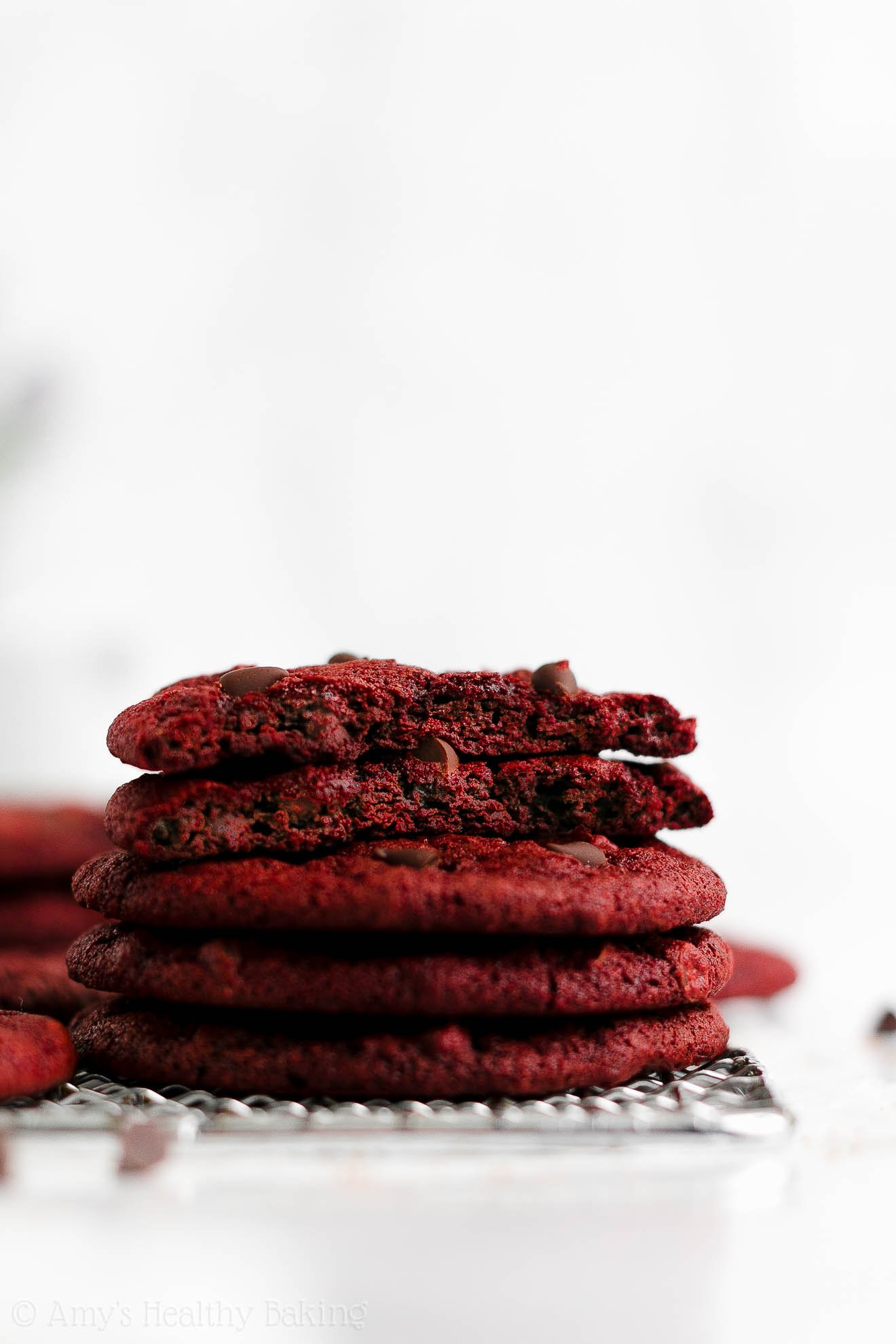 ULTIMATE Best Easy Healthy Dairy Free Vegan Red Velvet Chocolate Chip Cookies
