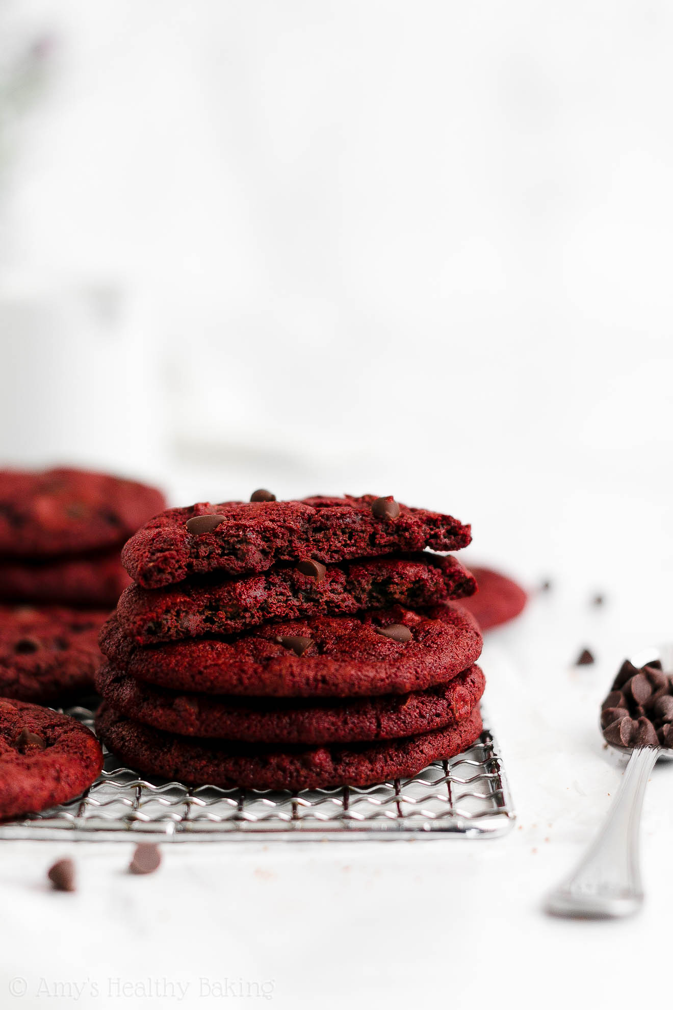 ULTIMATE Best Easy Healthy Whole Wheat Low Calorie Chewy Red Velvet Cookies