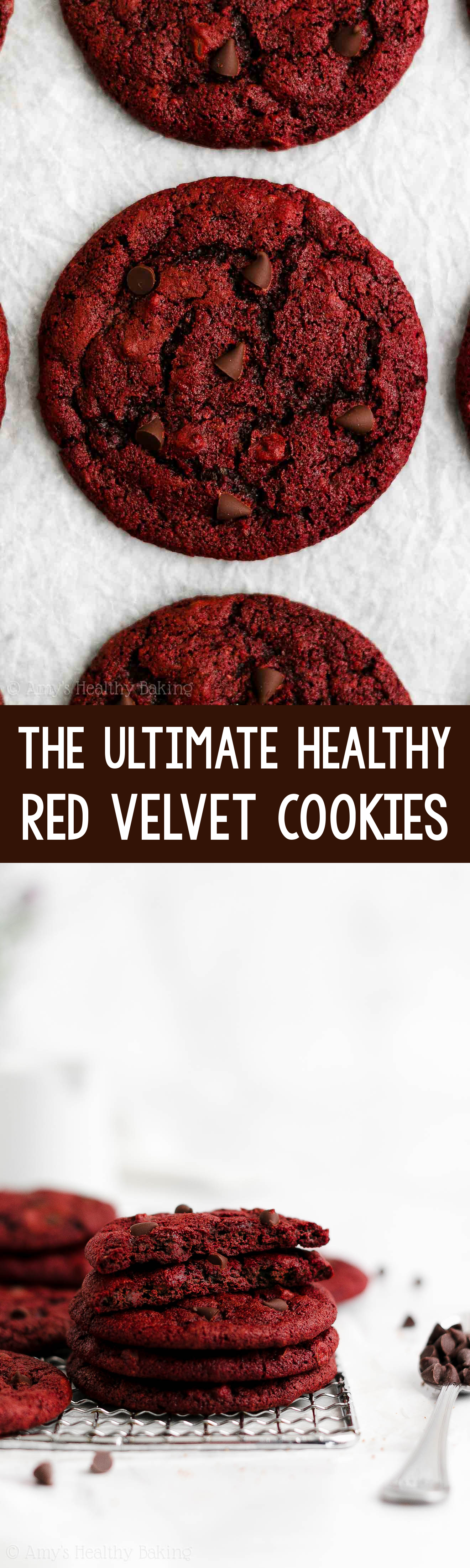 ULTIMATE Best Easy Healthy Chewy Red Velvet Chocolate Chip Cookies From Scratch