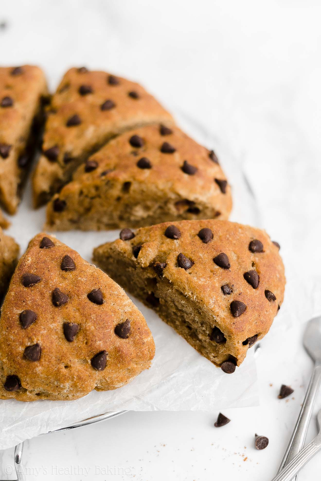 Easy Healthy Clean Eating Low Sugar Eggless Chai Spice Chocolate Chip Scones