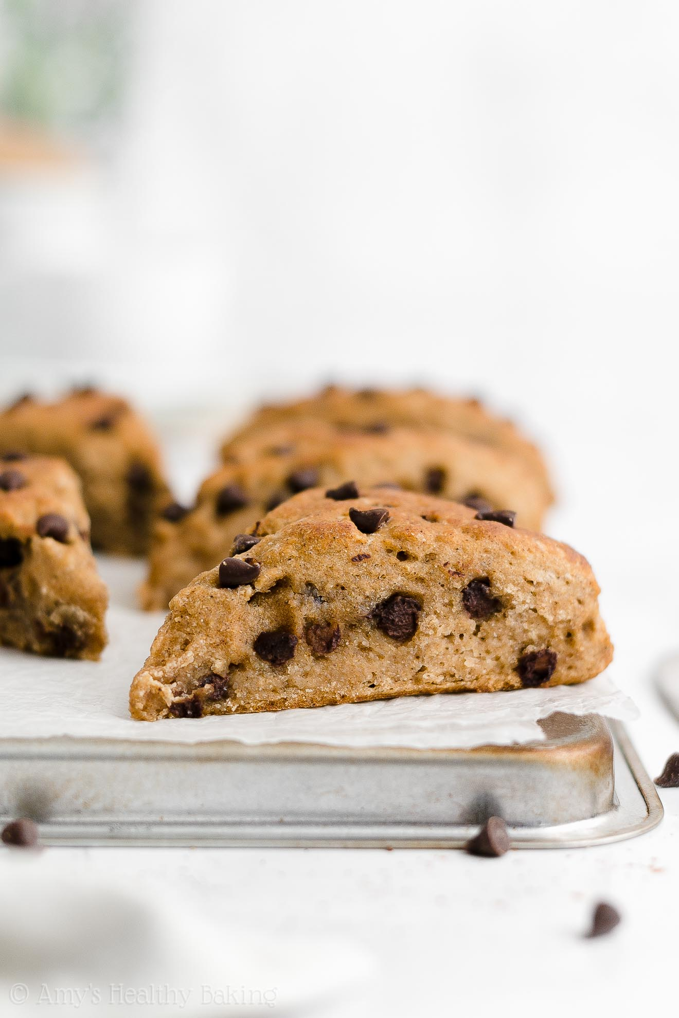 Easy Healthy Eggless Chai Spice Chocolate Chip Scones Without Heavy Cream