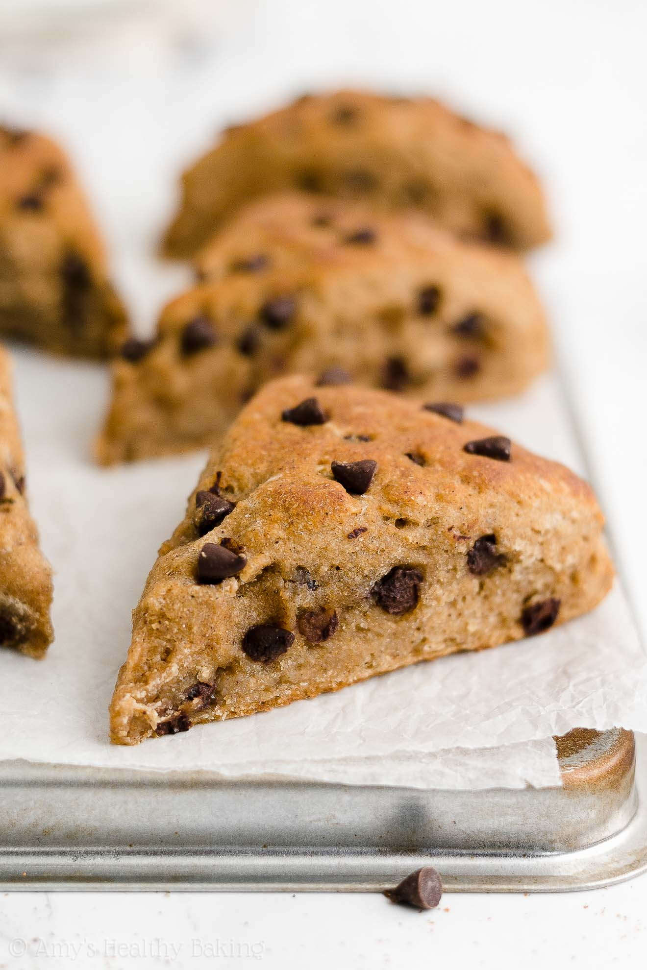 Easy Healthy Whole Wheat Low Calorie Moist Chai Spice Chocolate Chip Scones