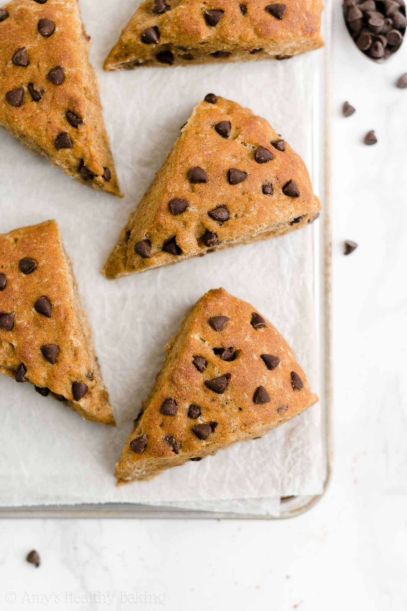 Easy Healthy Egg Free Chai Spice Chocolate Chip Scones Without Heavy Cream