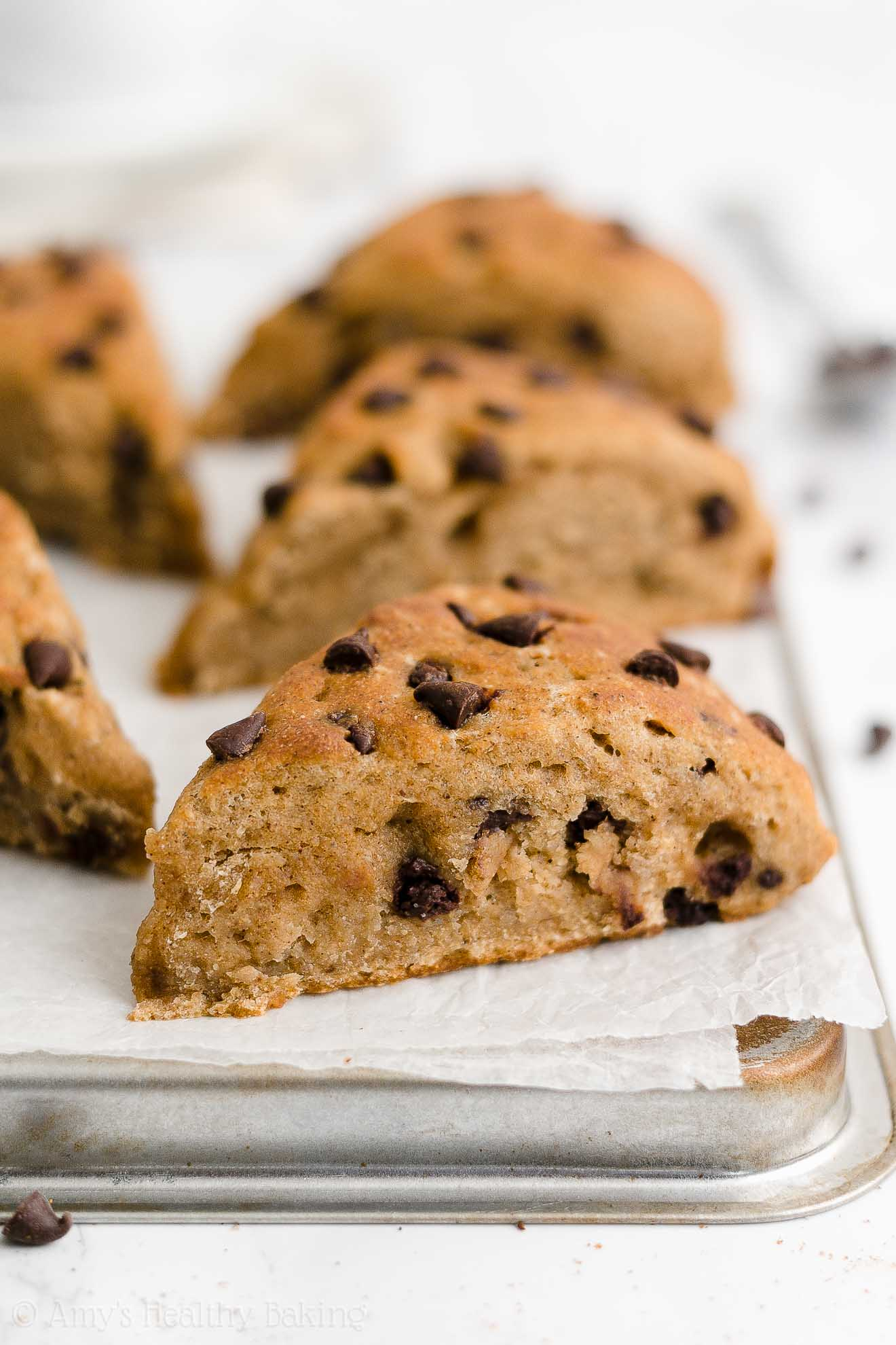 Easy Healthy Homemade Low Calorie No Egg Chai Spice Chocolate Chip Scones