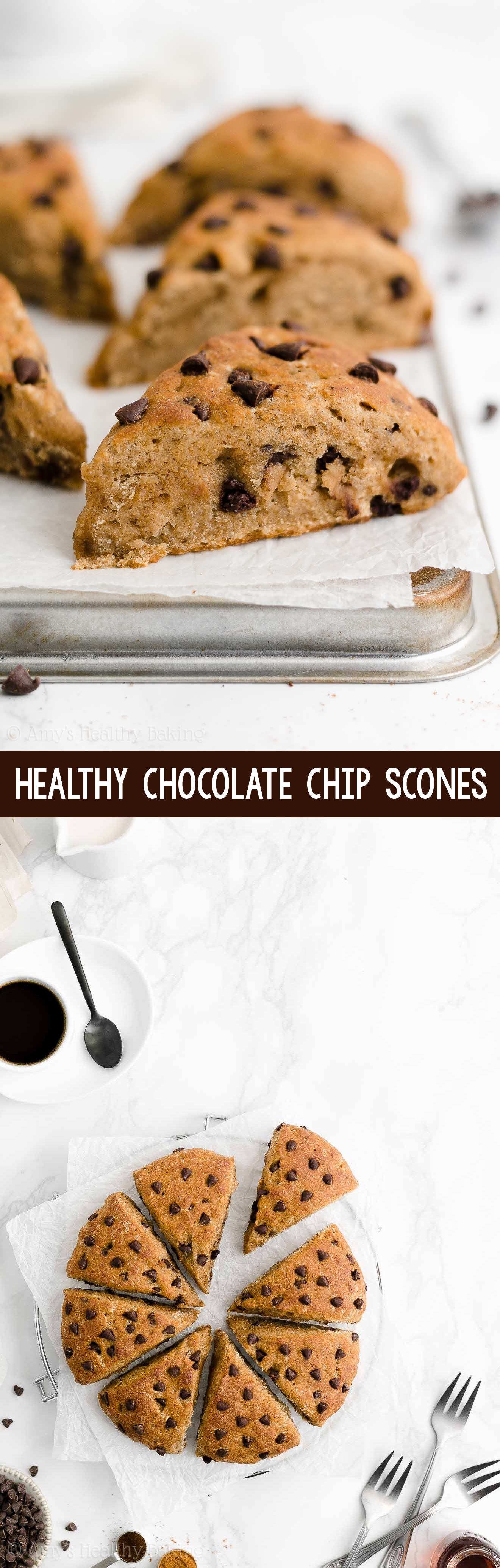 Easy Healthy Moist Greek Yogurt Chai Spice Chocolate Chip Scones No Heavy Cream