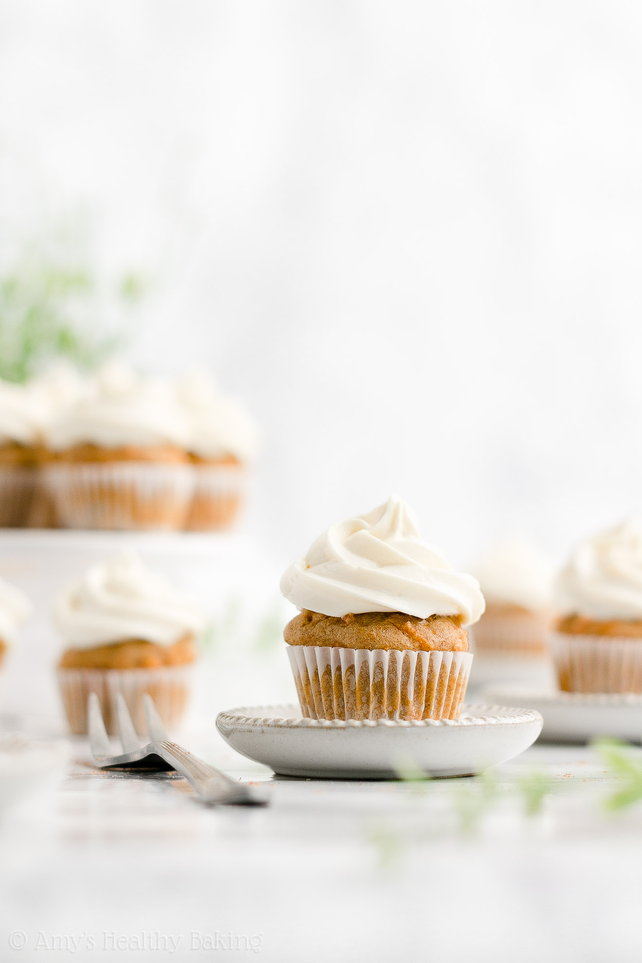 ULTIMATE Easy Healthy Gluten Free Greek Yogurt Moist Mini Carrot Cake Cupcakes