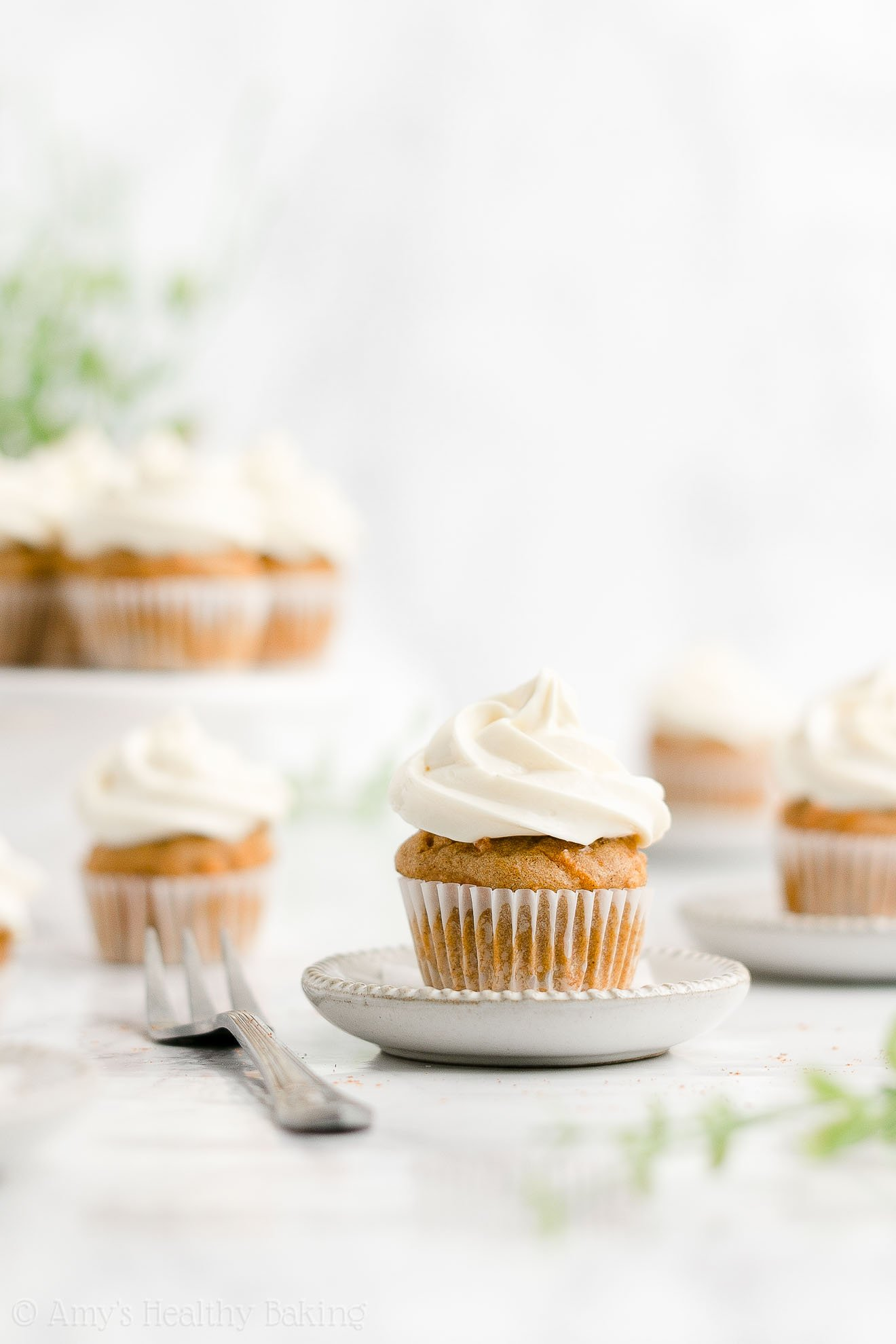 ULTIMATE Best Easy Healthy Homemade Moist Mini Carrot Cake Cupcakes
