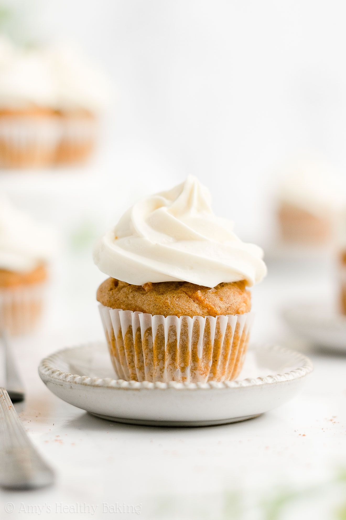 Best Easy Healthy Gluten Free Low Sugar Moist Mini Carrot Cake Cupcakes