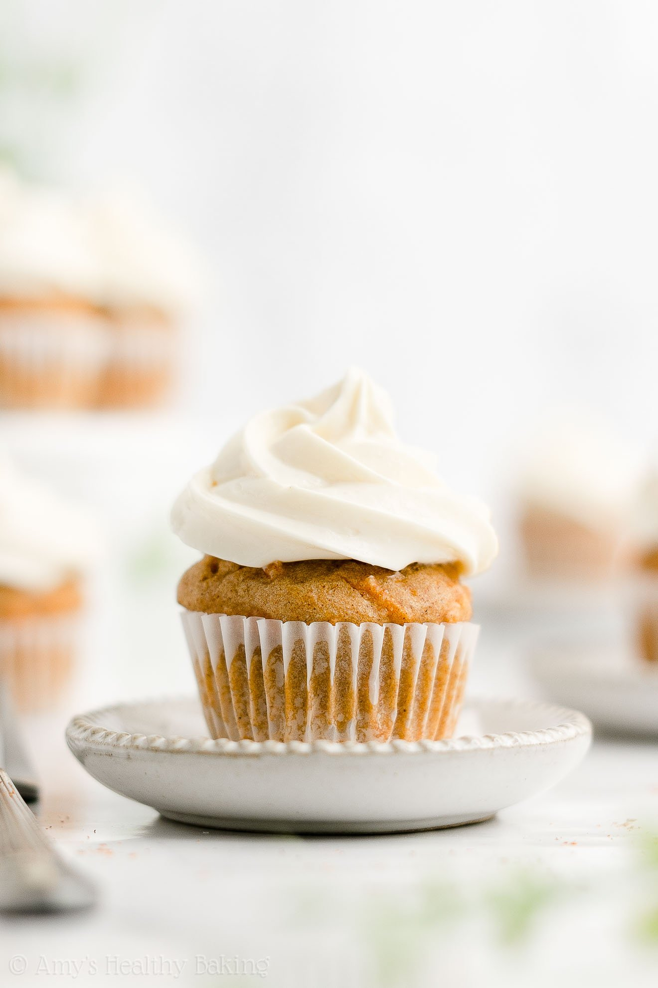 ULTIMATE Healthy Mini Carrot Cake Cupcakes with Cream Cheese Frosting